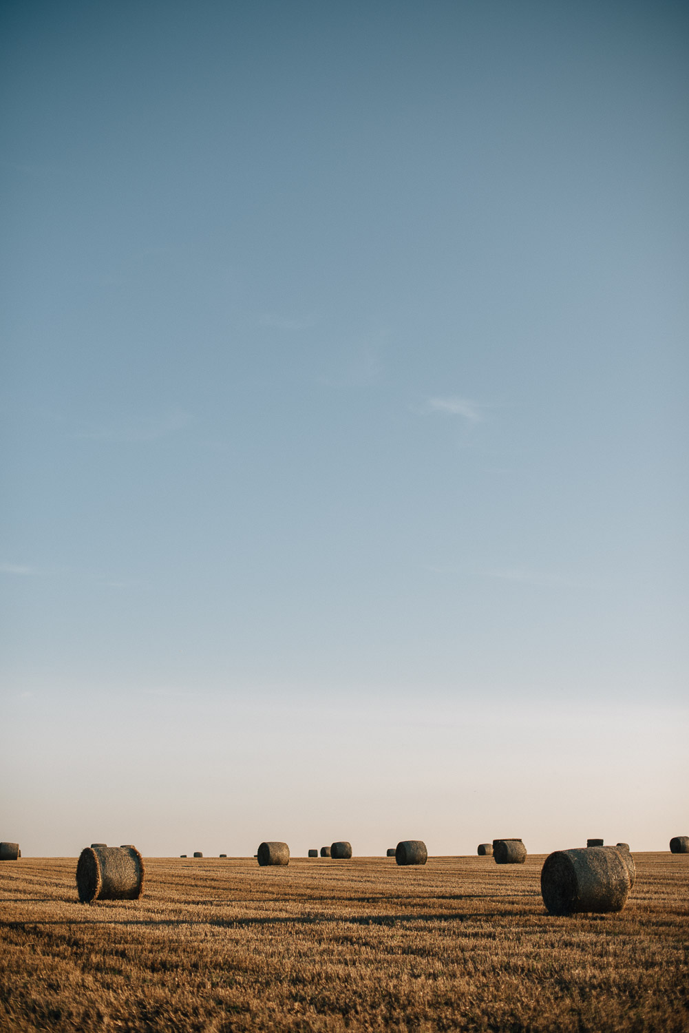 hay bales at golden hour by alternative london wedding photographer the shannons photography