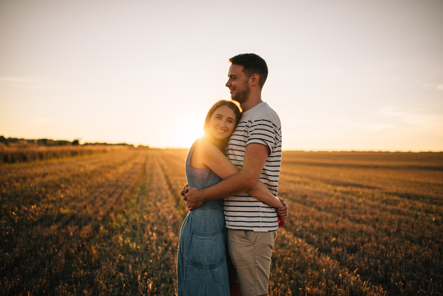 sunset couple shoot by alternative london wedding photographer the shannons photography