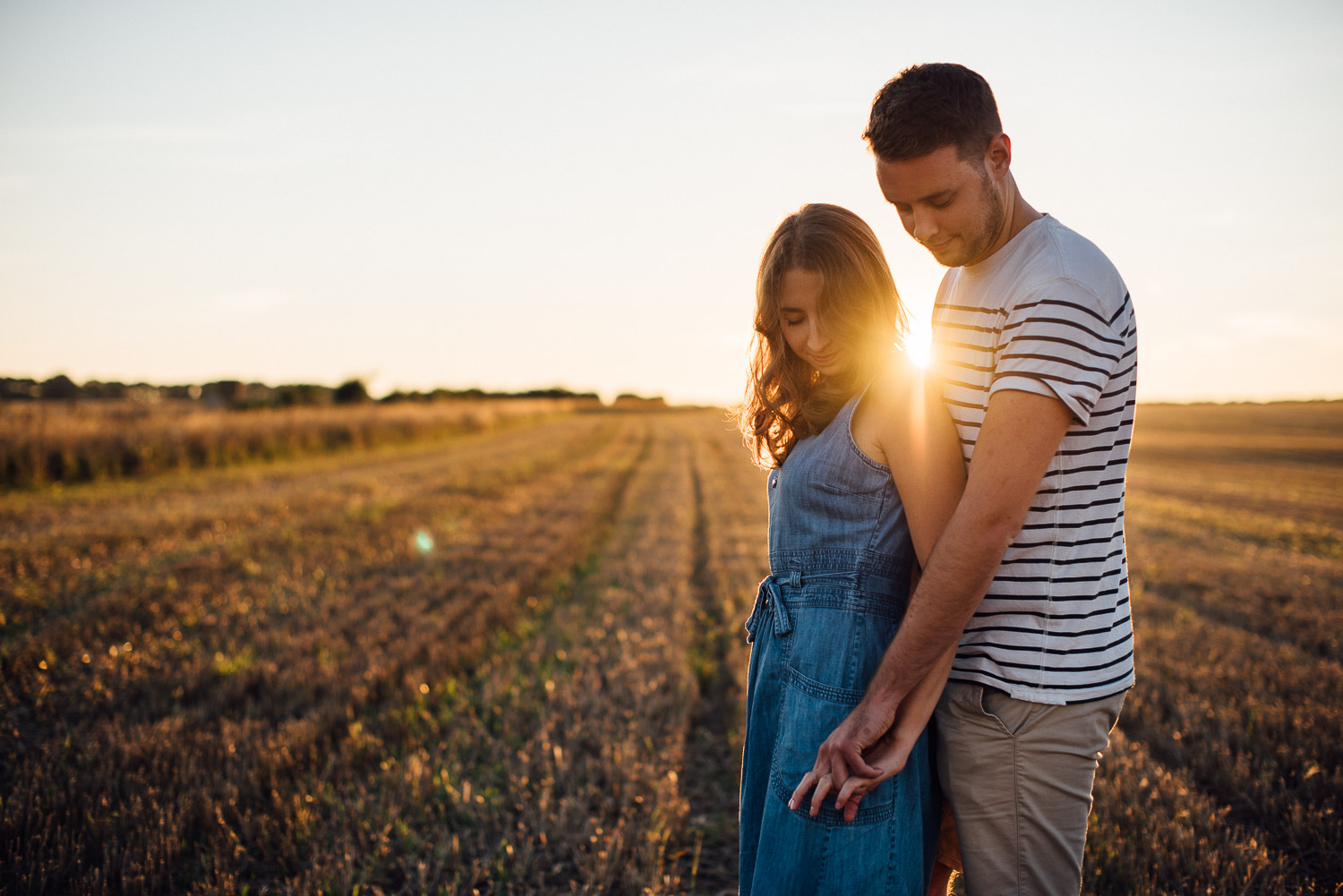 sunset in cotswolds by alternative london wedding photographer the shannons photography