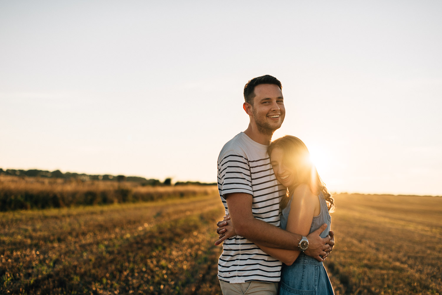 sunset engagement shoot in the cotswolds by alternative london wedding photographer the shannons photography