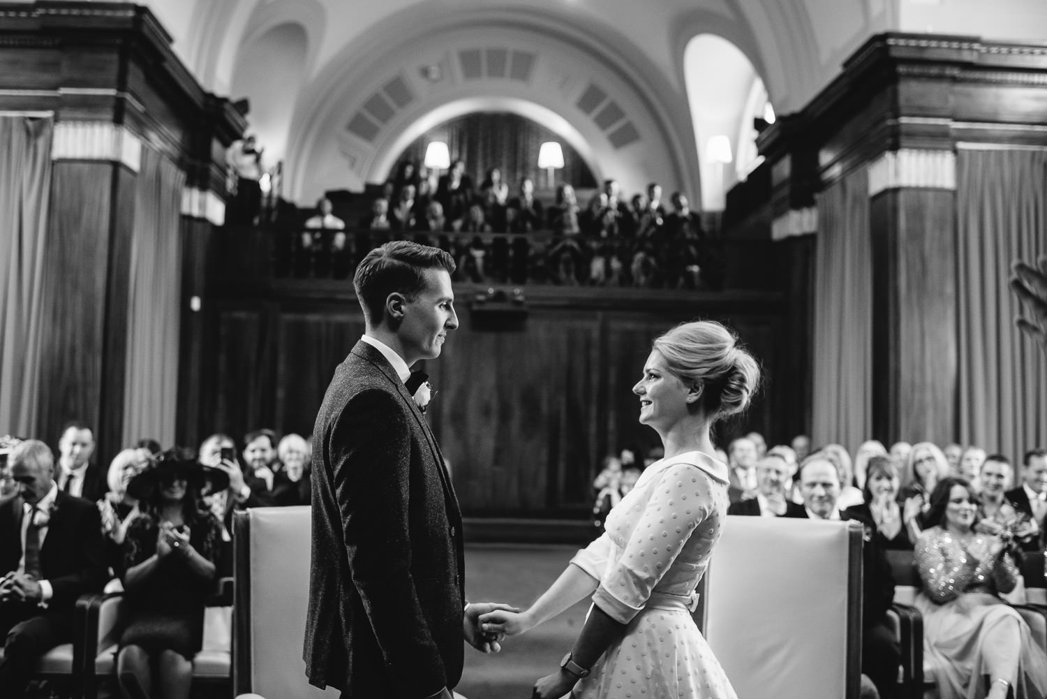 Wedding speeches in stoke newington town hall wedding by creative and alternative london wedding photographer the shannons photography