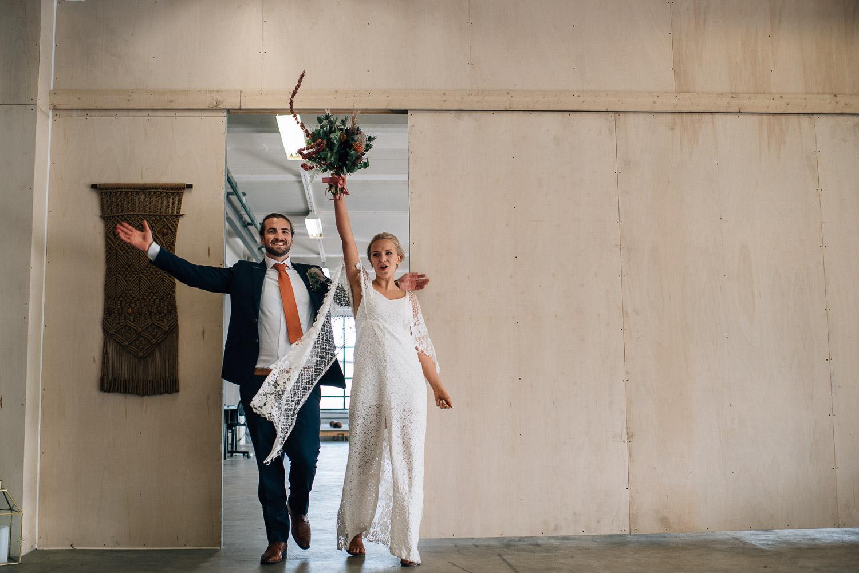 Bride and groom entrance