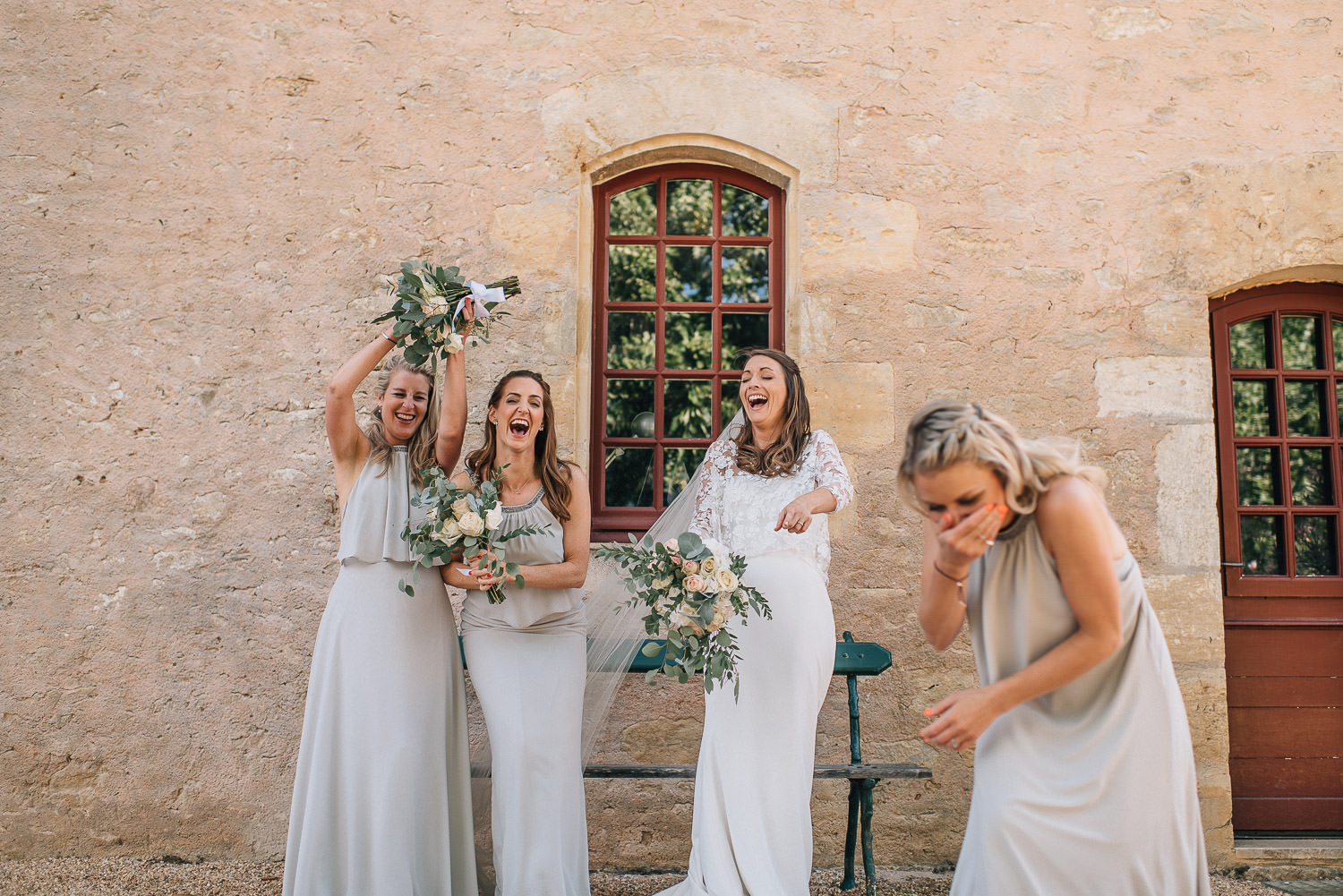 chateau de bourlie bridesmaids by creative and alternative london wedding photographer the shannons photography