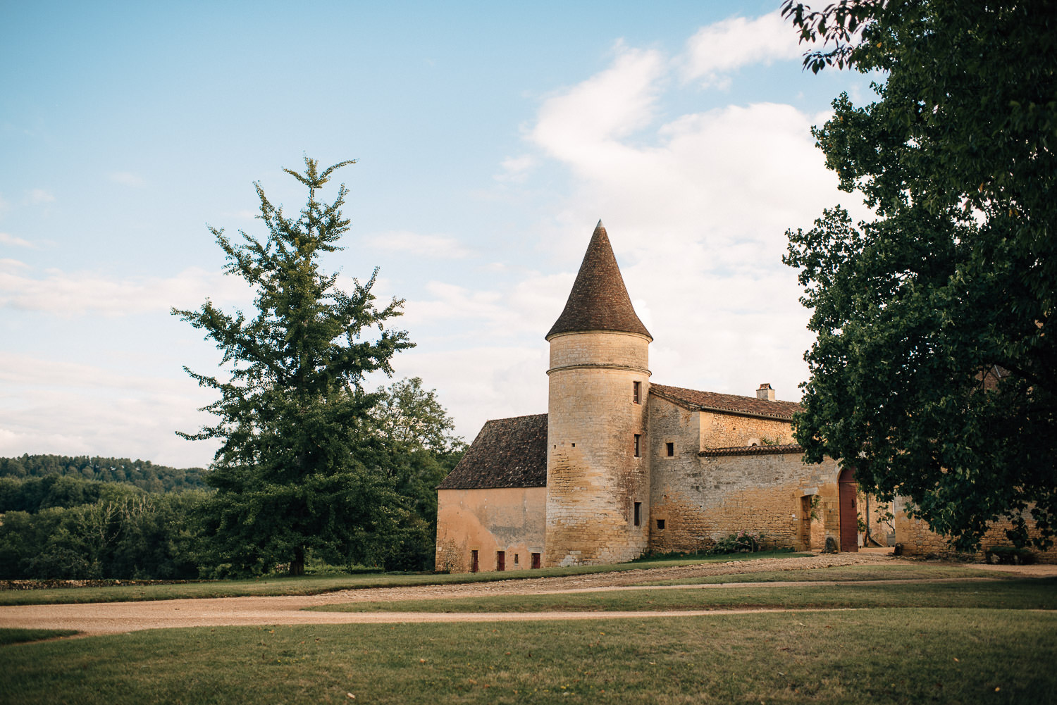 Chateau de la Bourlie Wedding by creative and alternative destination wedding photographers the shannons photography