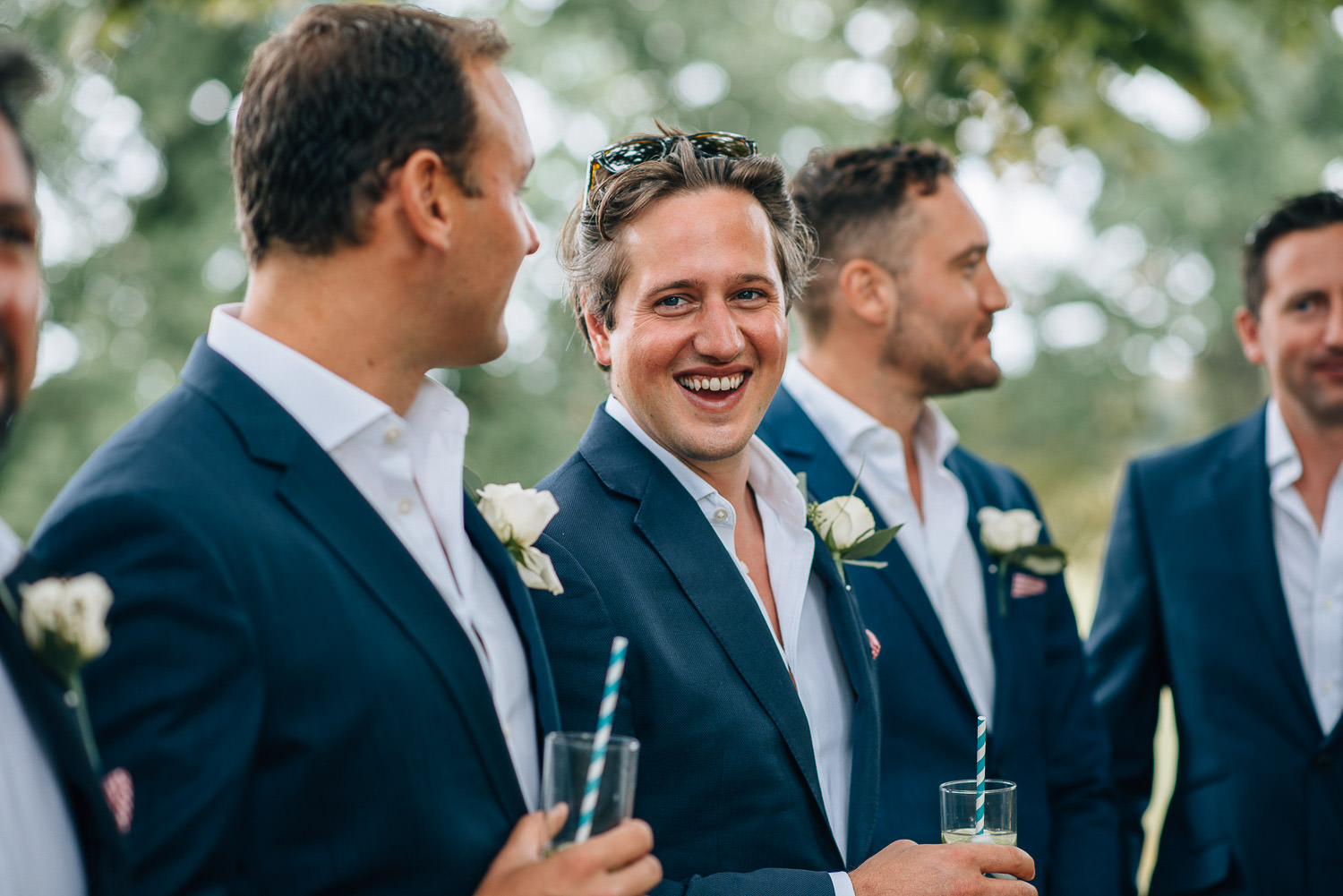 Outdoor wedding ceremony in chateau de la bourlie wedding by destination wedding photographer the shannons photography