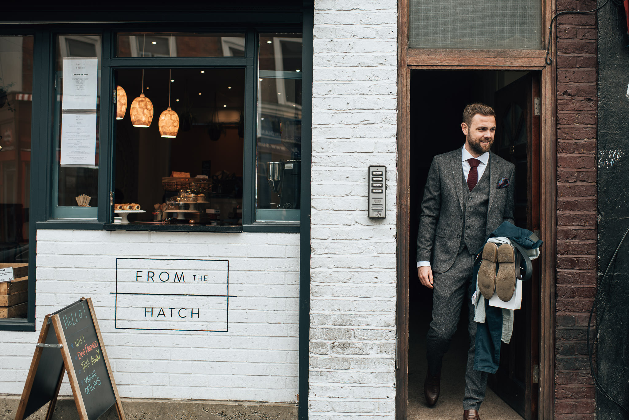 From the hatch bakery in stoke newington town hall wedding by creative and alternative london wedding photographer the shannons photography