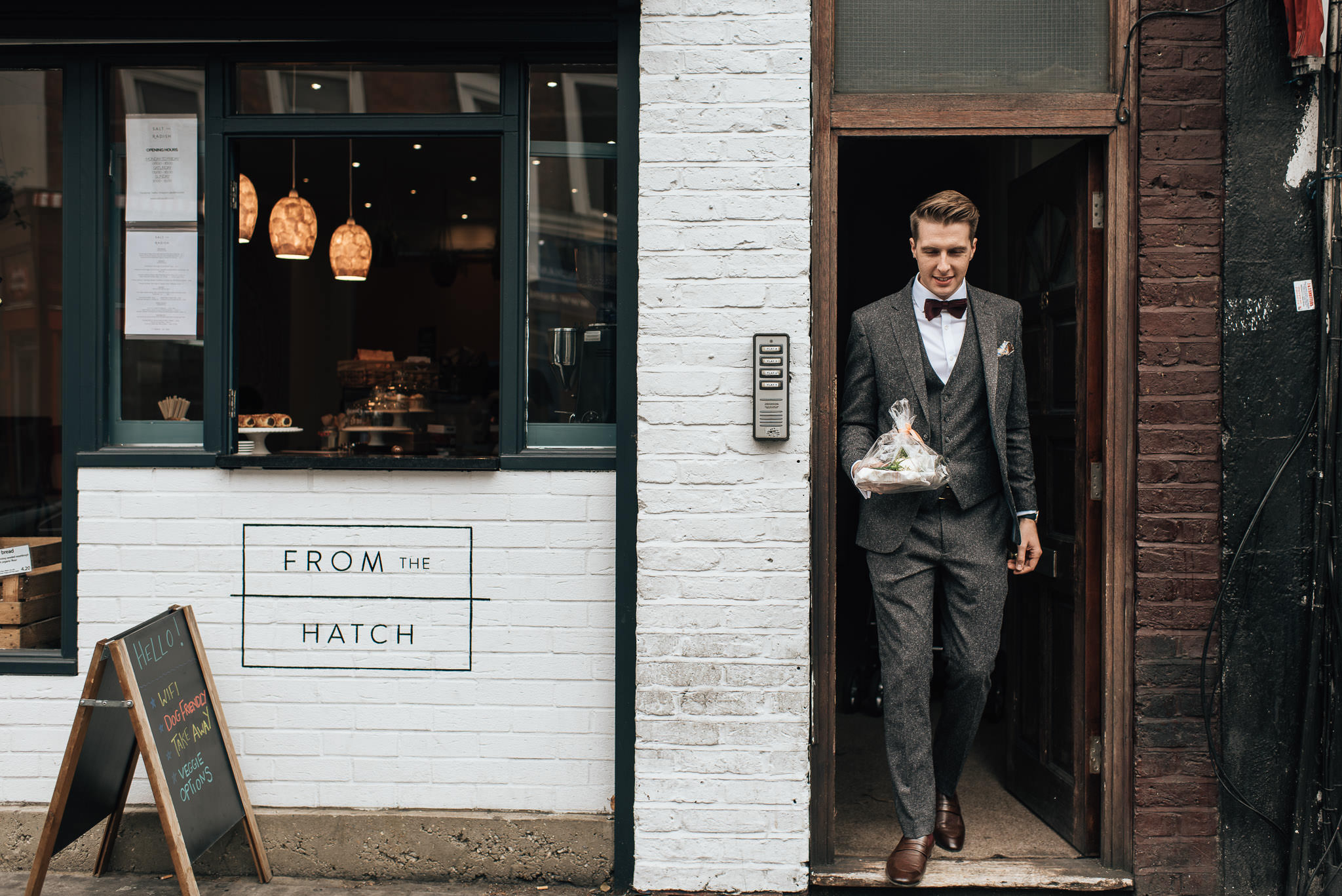 From the hatch bakery islington in stoke newington town hall wedding by creative and alternative london wedding photographer the shannons photography
