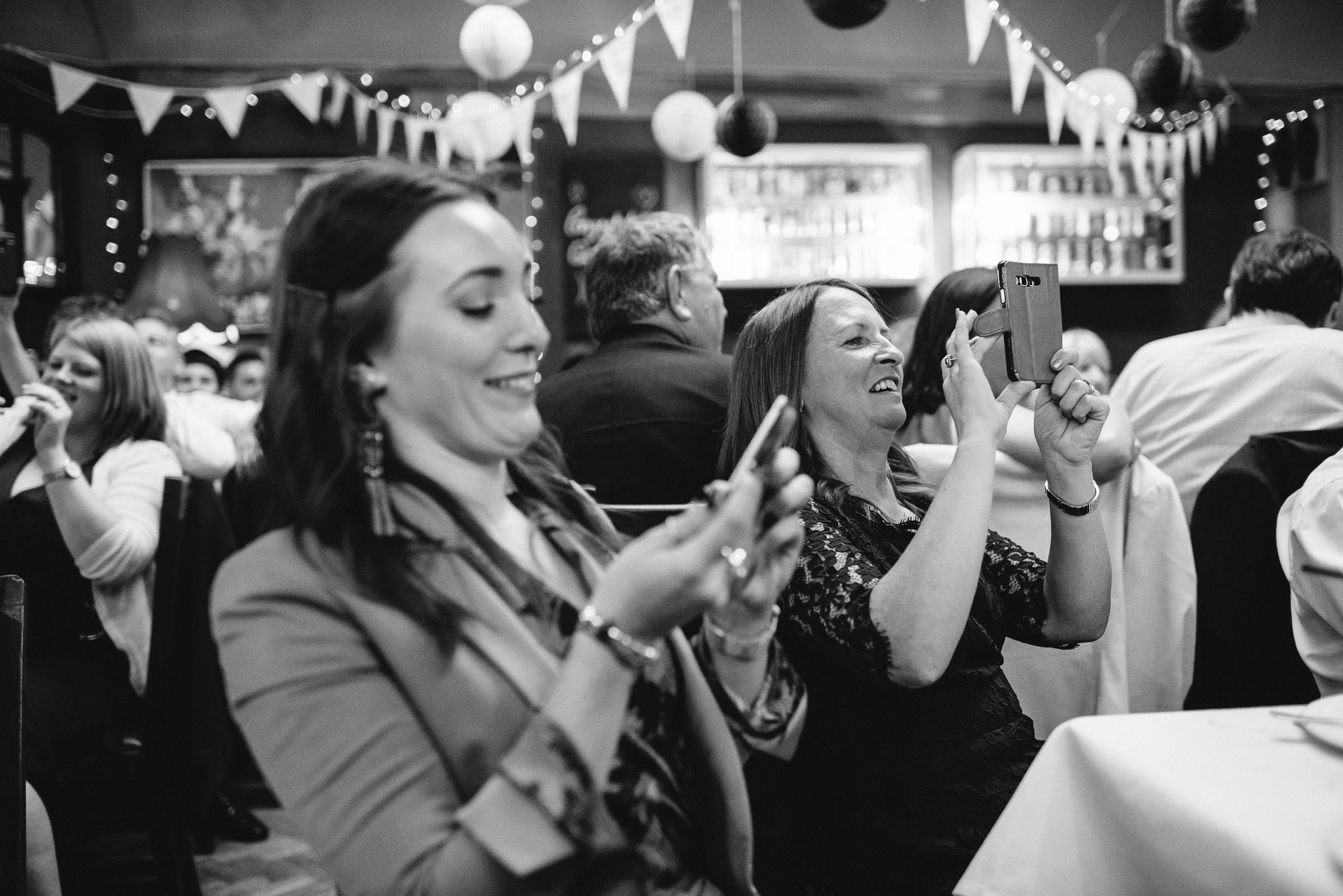 Wedding pictures in the londesborough pub in stoke newington town hall wedding by creative and alternative london wedding photographer the shannons photography