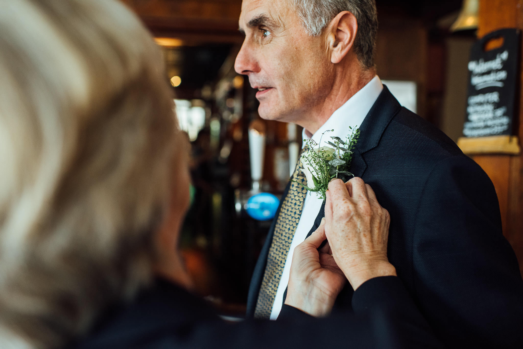 Father of the groom in in stoke newington town hall wedding by creative and alternative london wedding photographer the shannons photography
