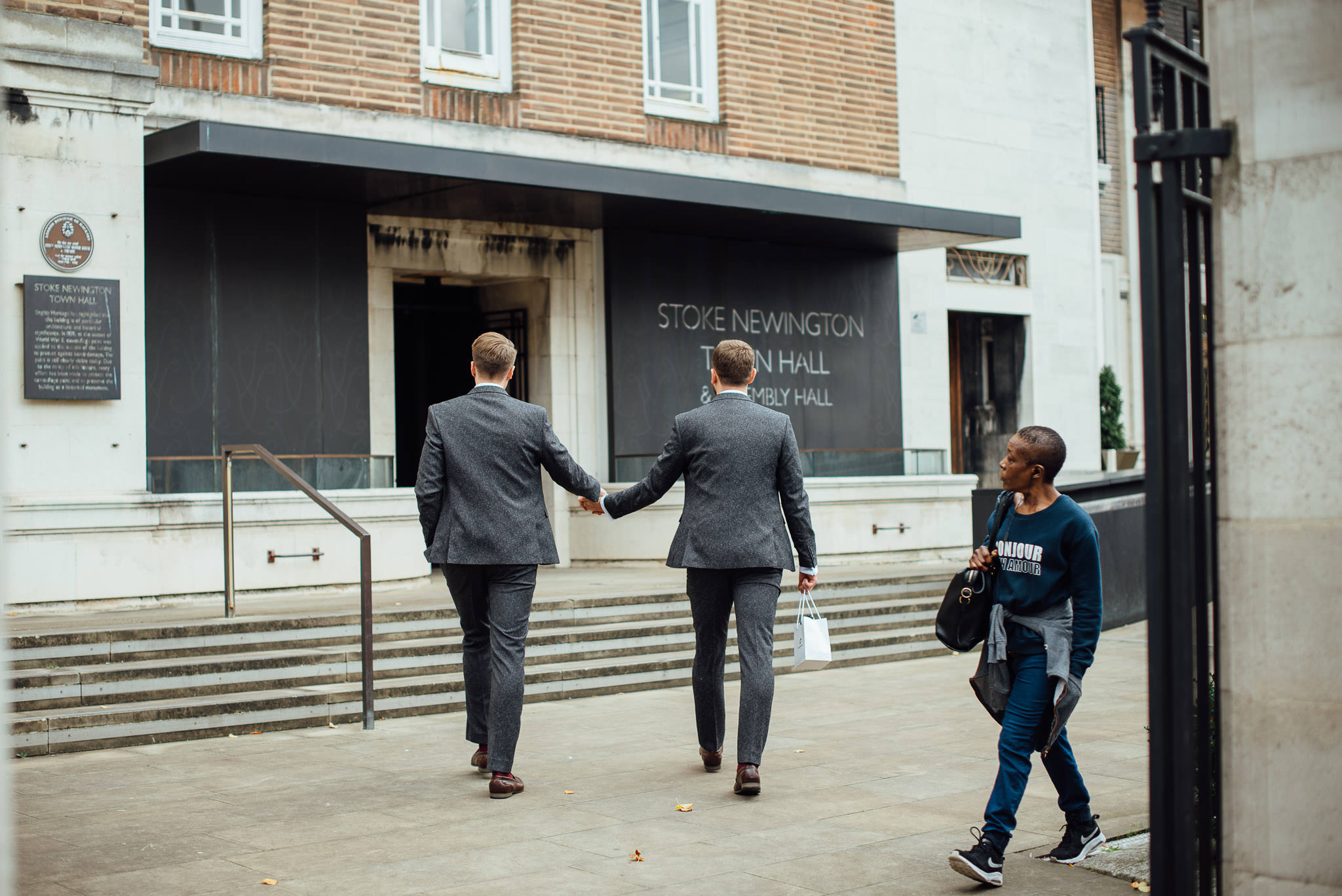 Stoke newington town hall building in stoke newington town hall wedding by creative and alternative london wedding photographer the shannons photography