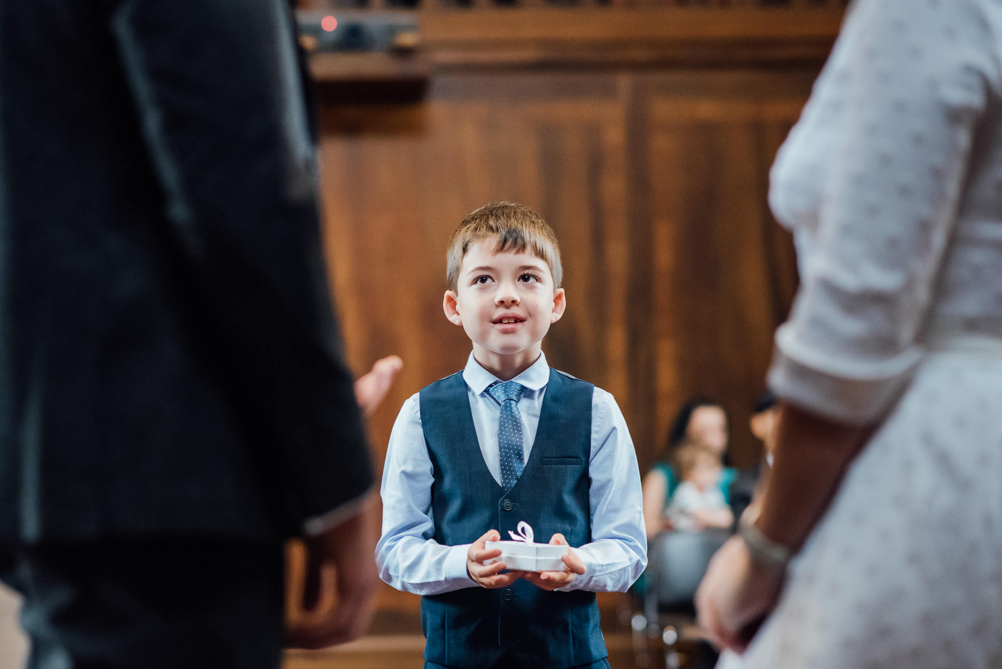 Ring bearer in stoke newington town hall wedding by creative and alternative london wedding photographer the shannons photography
