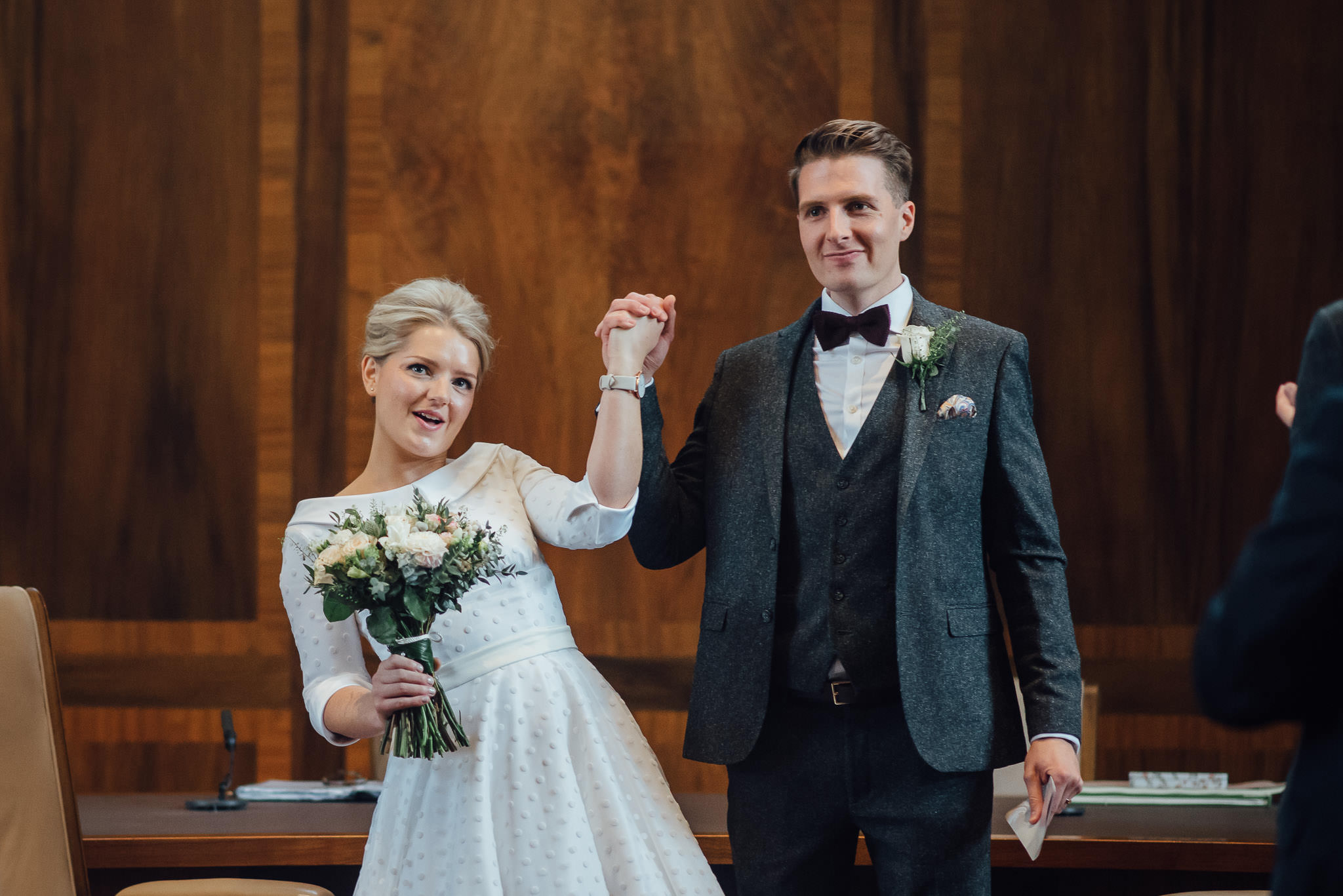 Wedding pictures in stoke newington town hall wedding by creative and alternative london wedding photographer the shannons photography