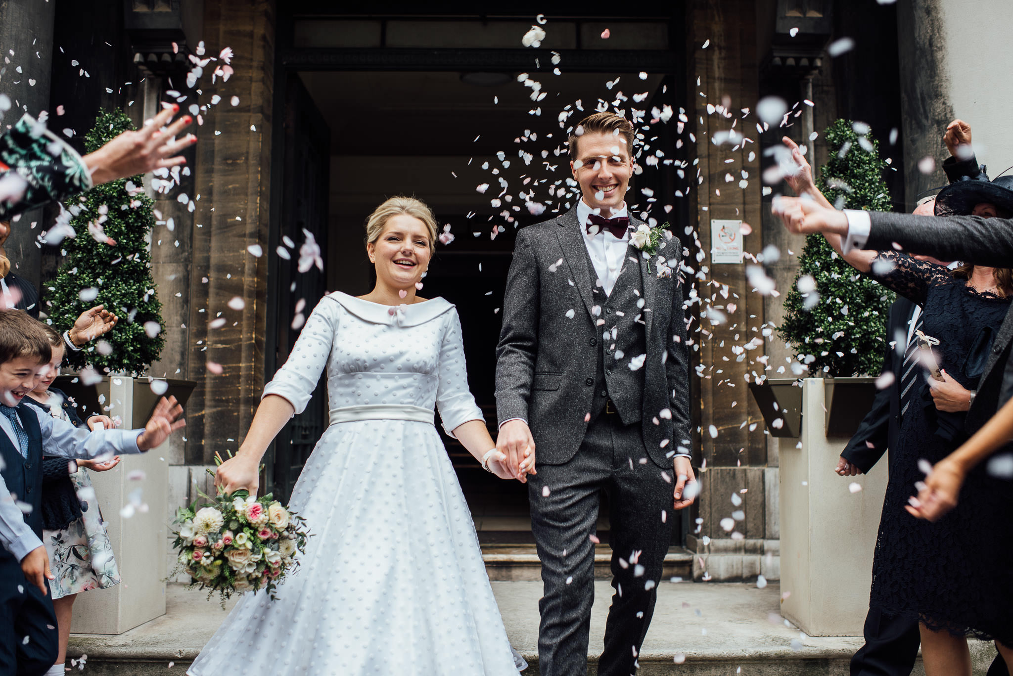 Alternative wedding in stoke newington town hall wedding by creative and alternative london wedding photographer the shannons photography