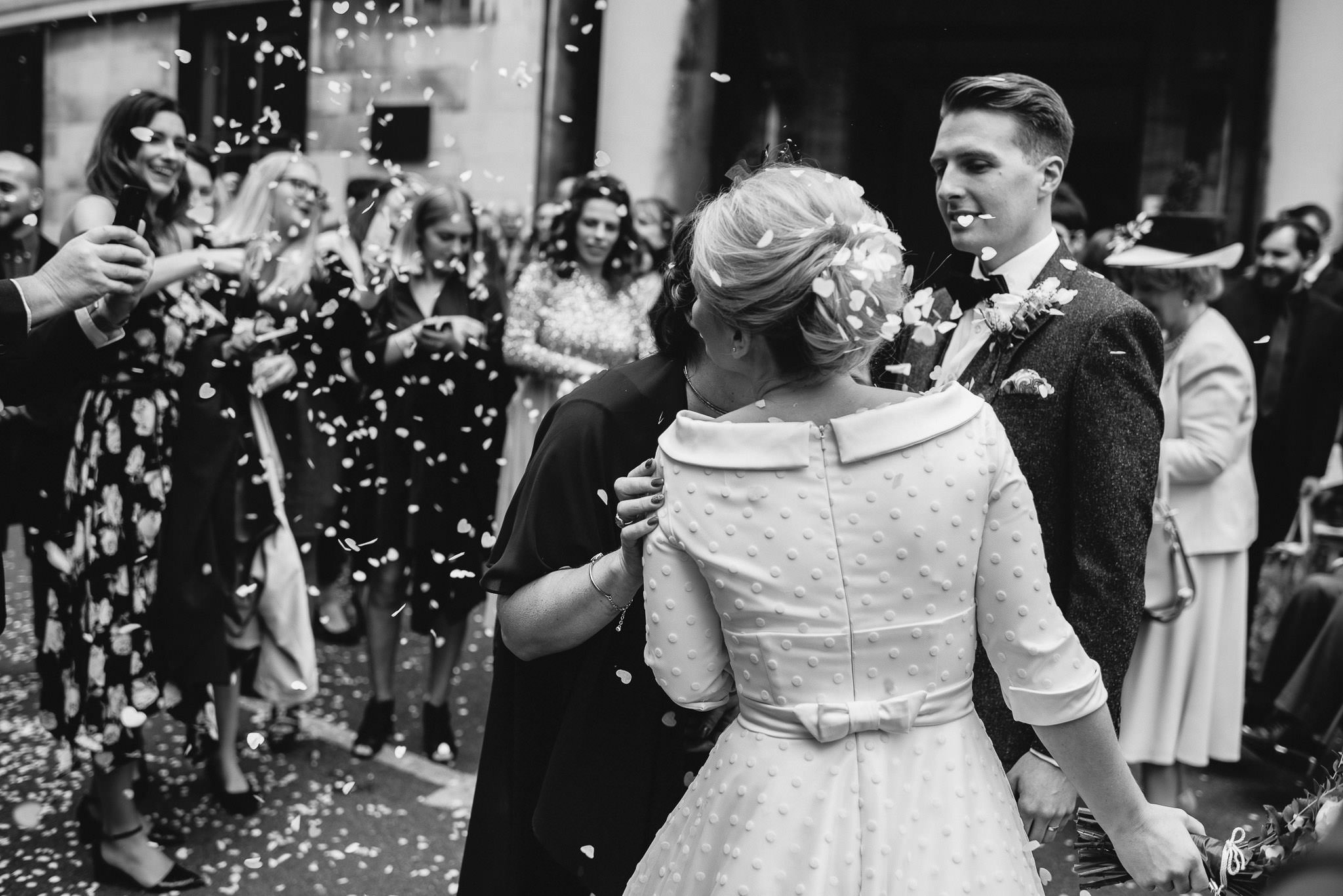 Emotional couple in stoke newington town hall wedding by creative and alternative london wedding photographer the shannons photography