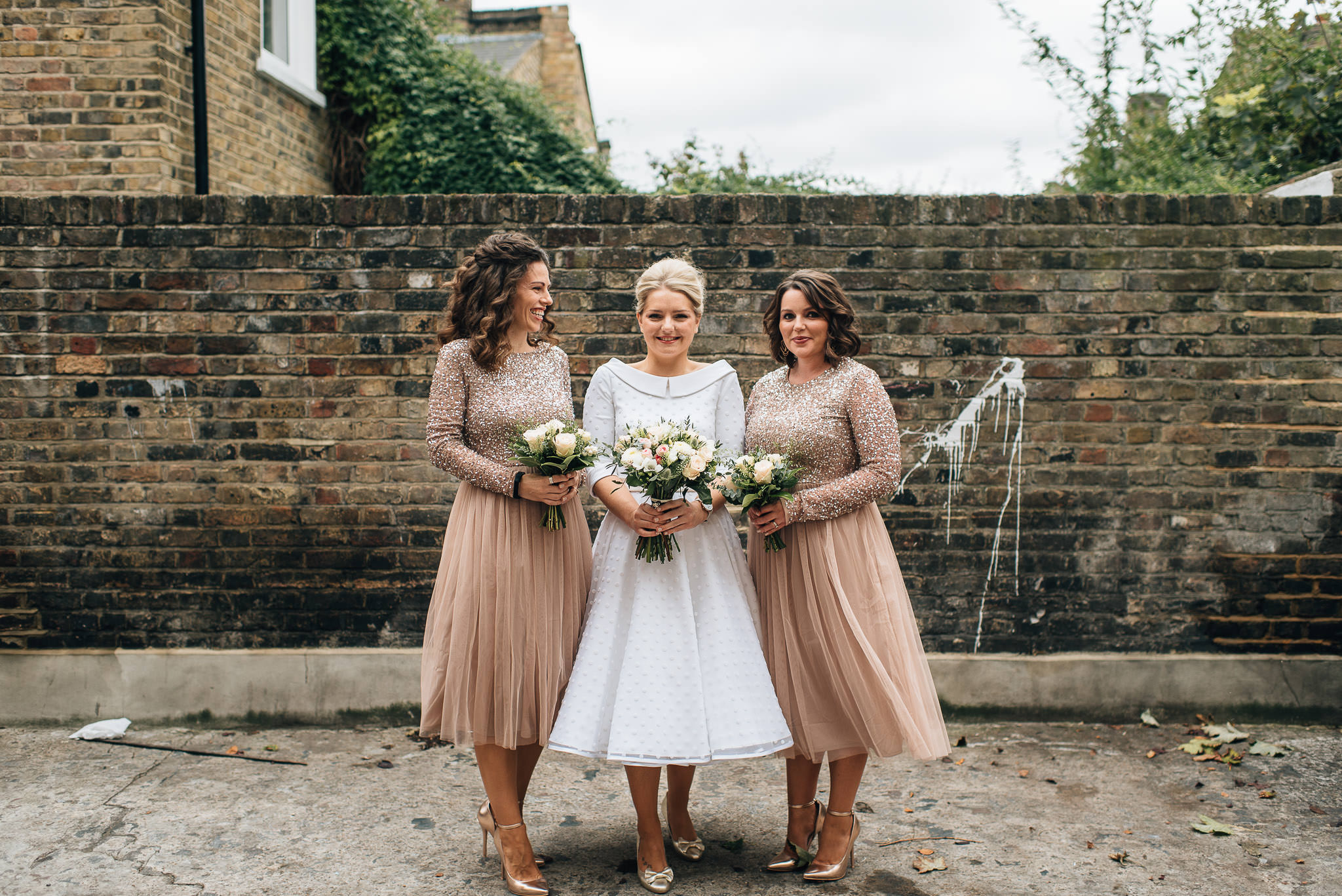 Bohemian london bride in stoke newington town hall wedding by creative and alternative london wedding photographer the shannons photography