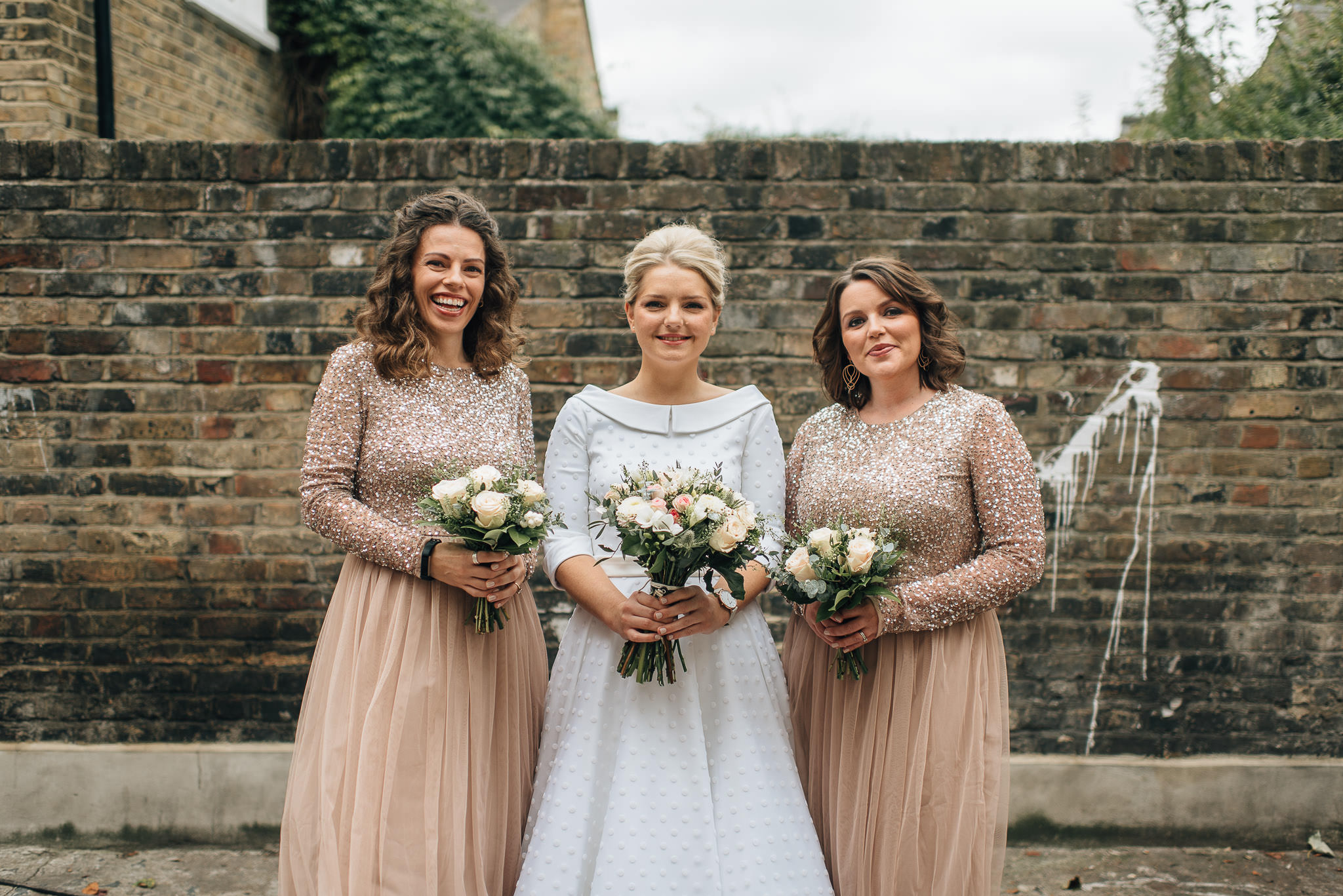 Cool vintage london bride in stoke newington town hall wedding by creative and alternative london wedding photographer the shannons photography
