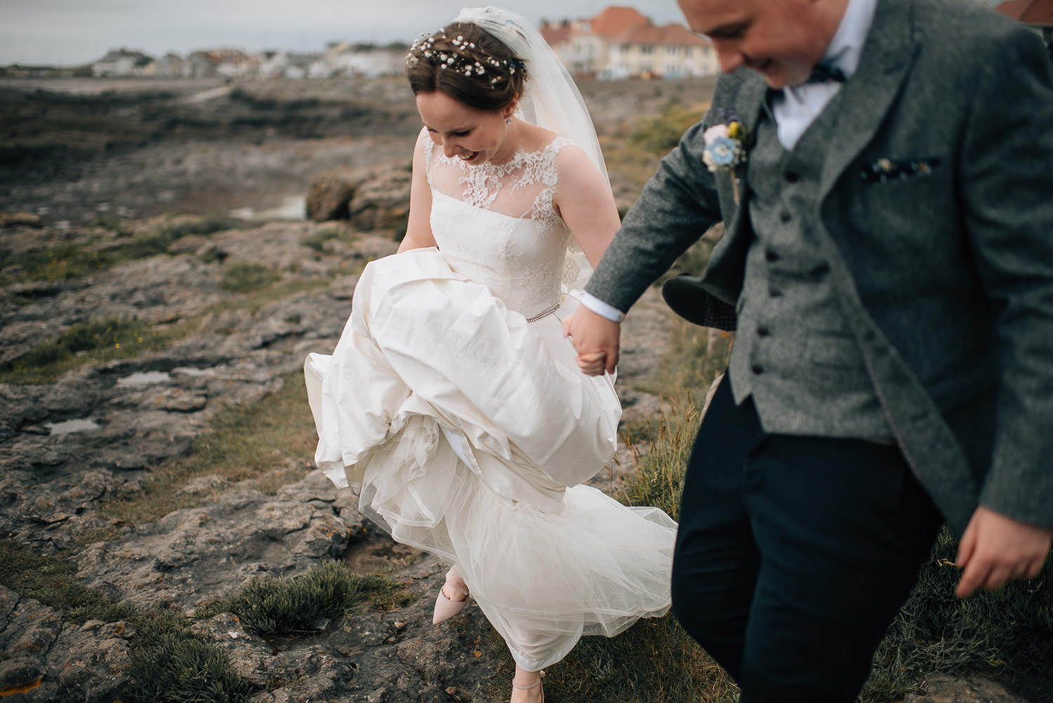 beach wedding by creative and alternative london wedding photographer the shannons photography