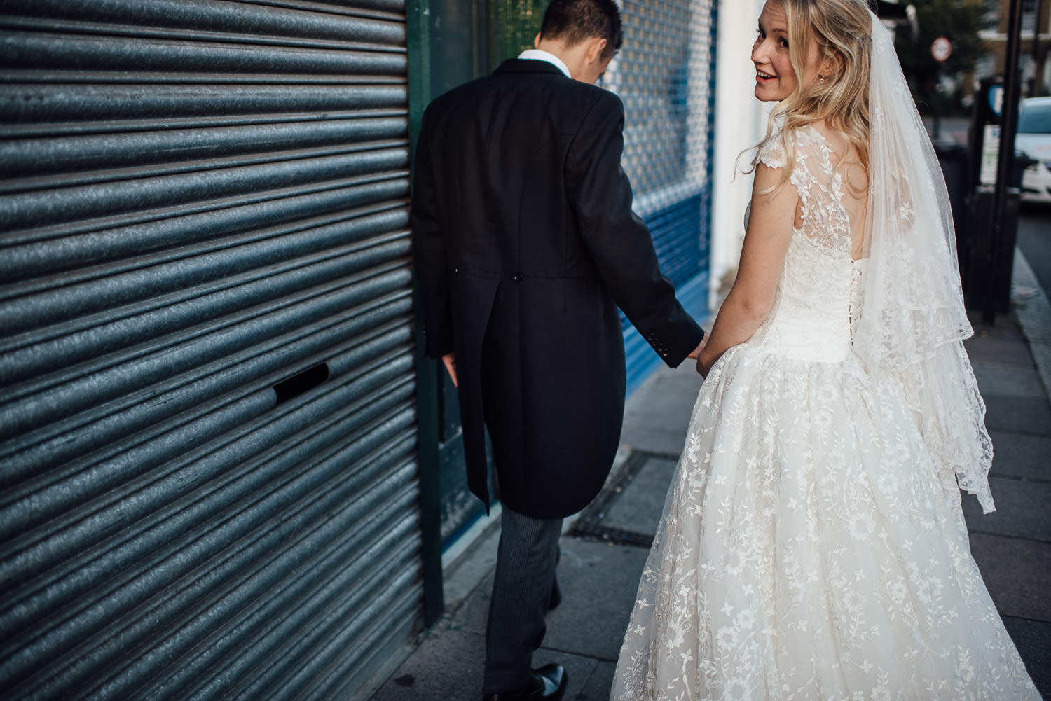 peckham industrial wedding by creative and alternative london wedding photographer the shannons photography