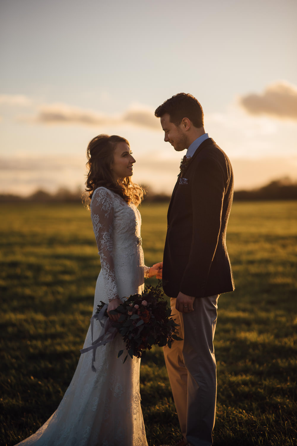 sunset wedding cripps barn by creative and alternative london wedding photographer the shannons photography