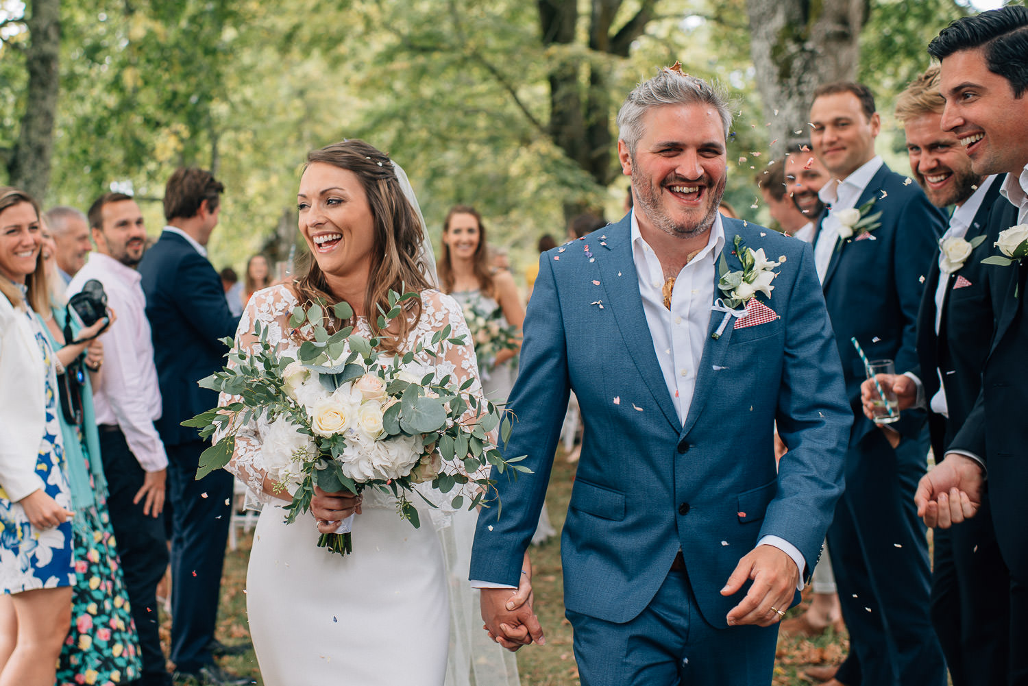 chateau de bourlie outdoor wedding by creative and alternative destination wedding photographer the shannons photography
