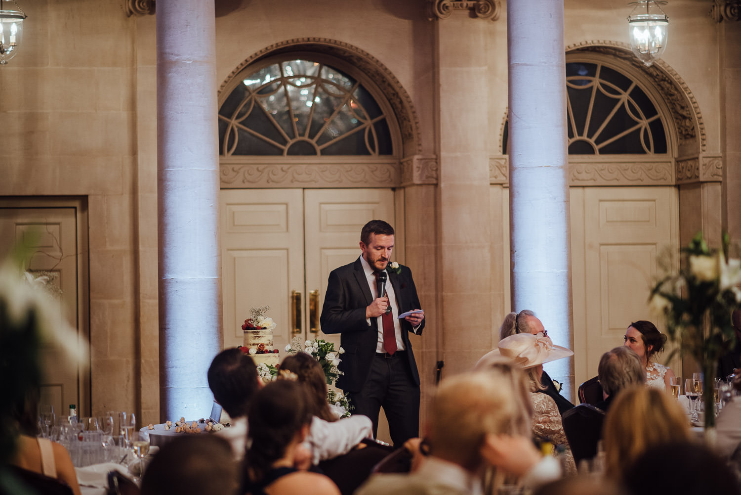 wedding speeches at the assembly rooms by bath wedding photographer the shannons photography