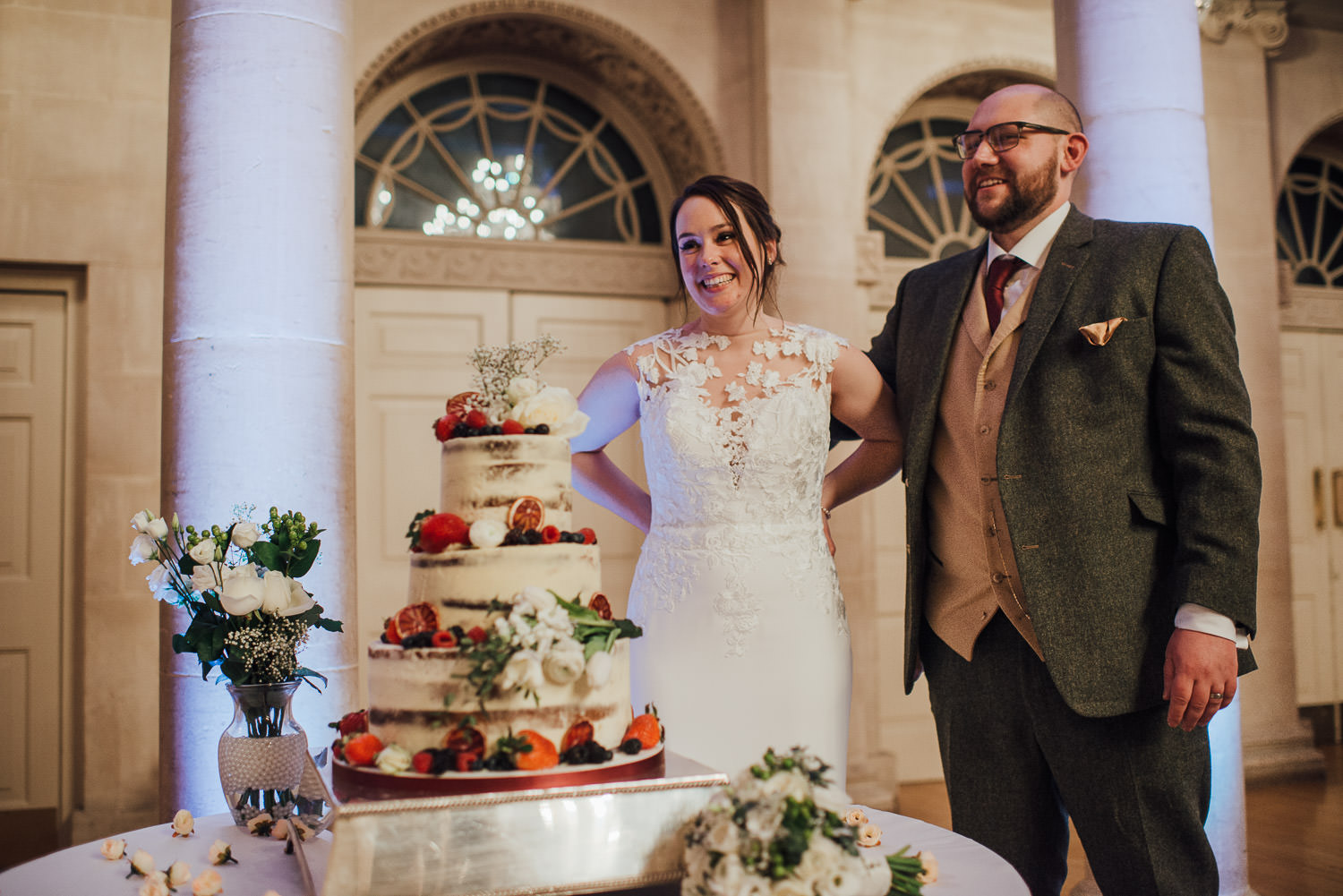wedding cake at the assembly rooms by bath wedding photographer the shannons photography