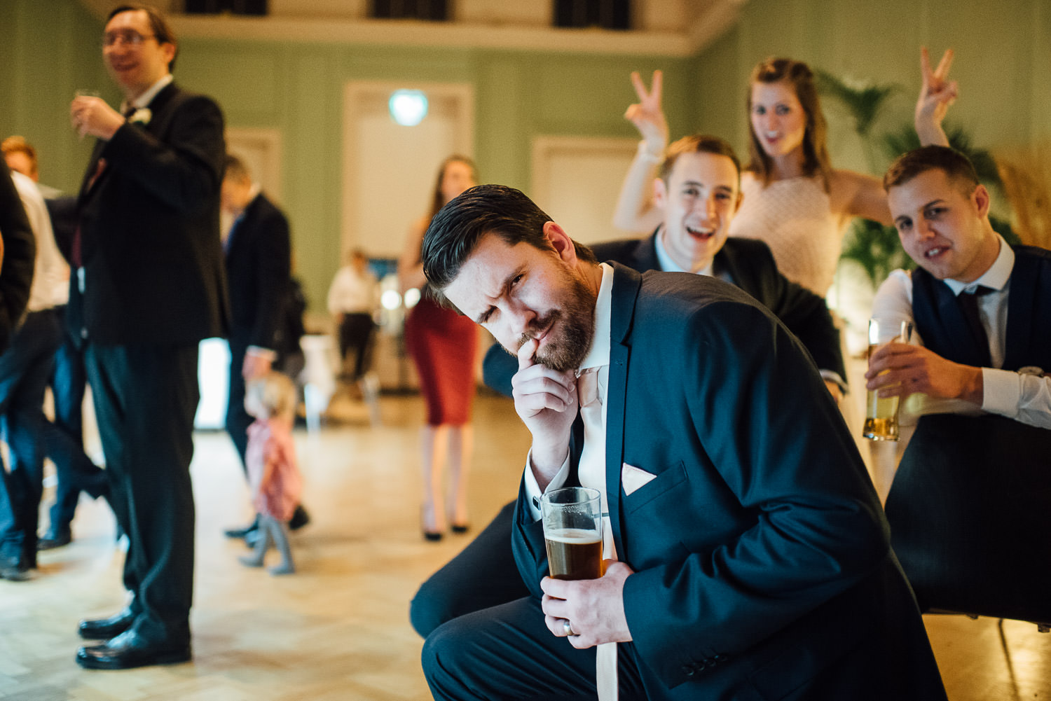 guest mucking around by bath wedding photographer the shannons photography