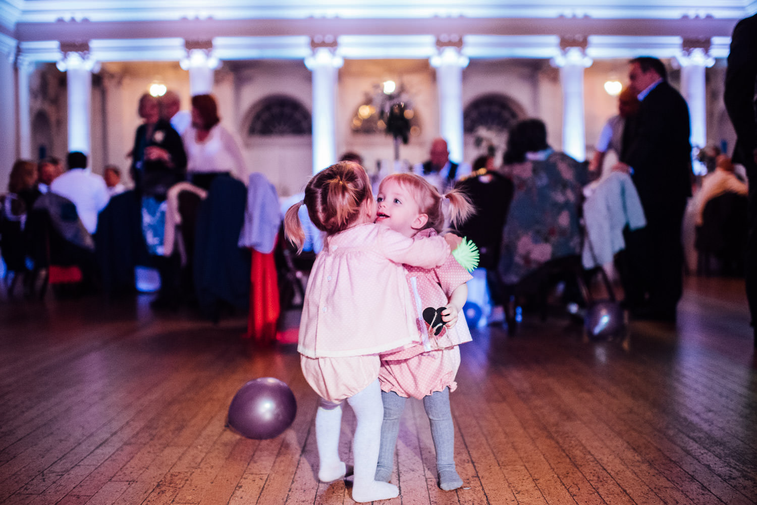 children dancing at wedding by bath wedding photographer the shannons photography