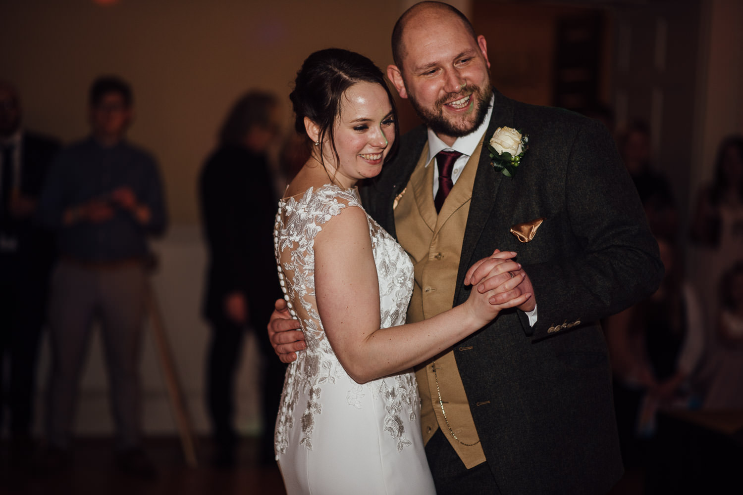 bride and groom first dance at assembly rooms bath by bath wedding photographer the shannons photography