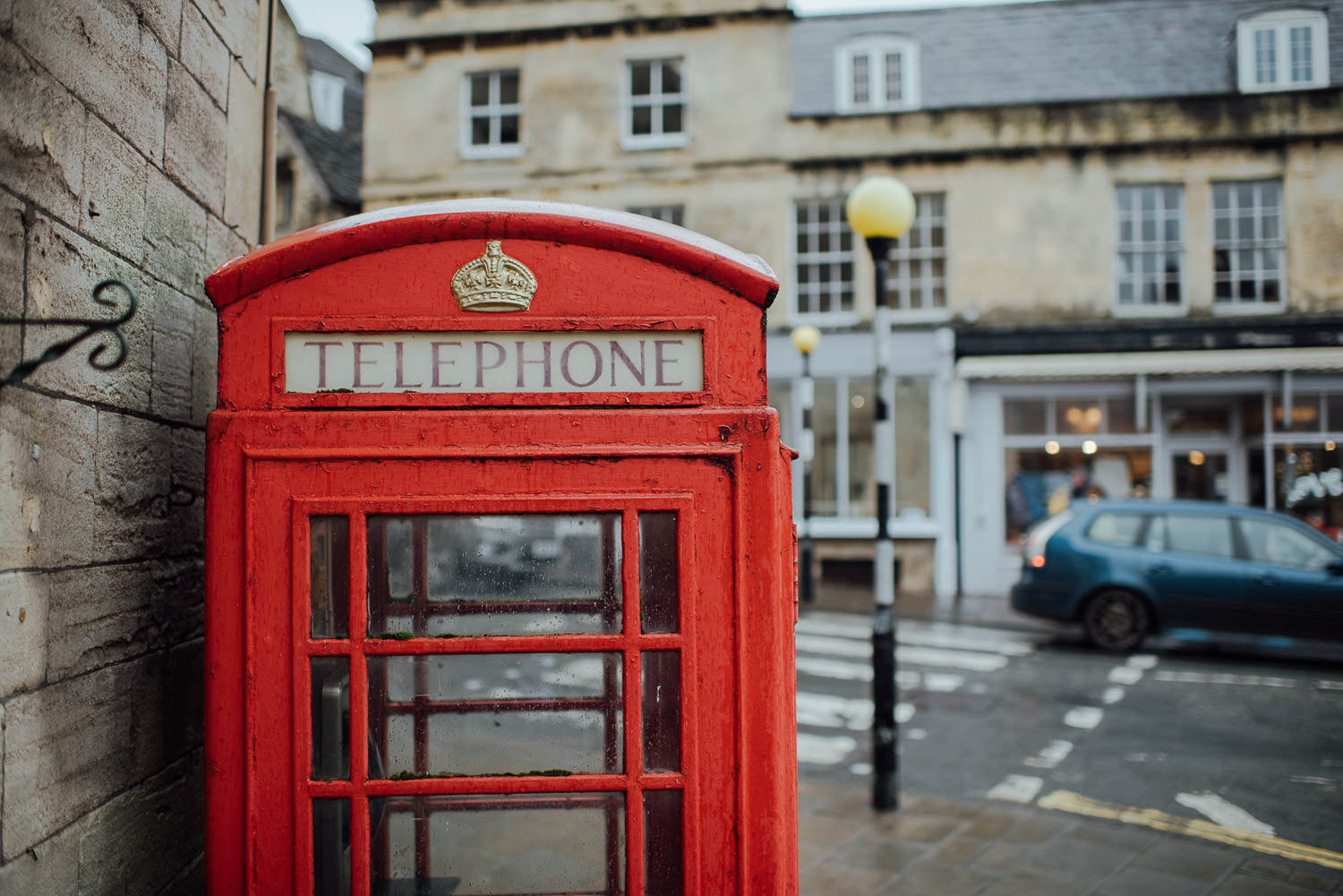 red phone box in bradford on avon by bath wedding photographer the shannons photography
