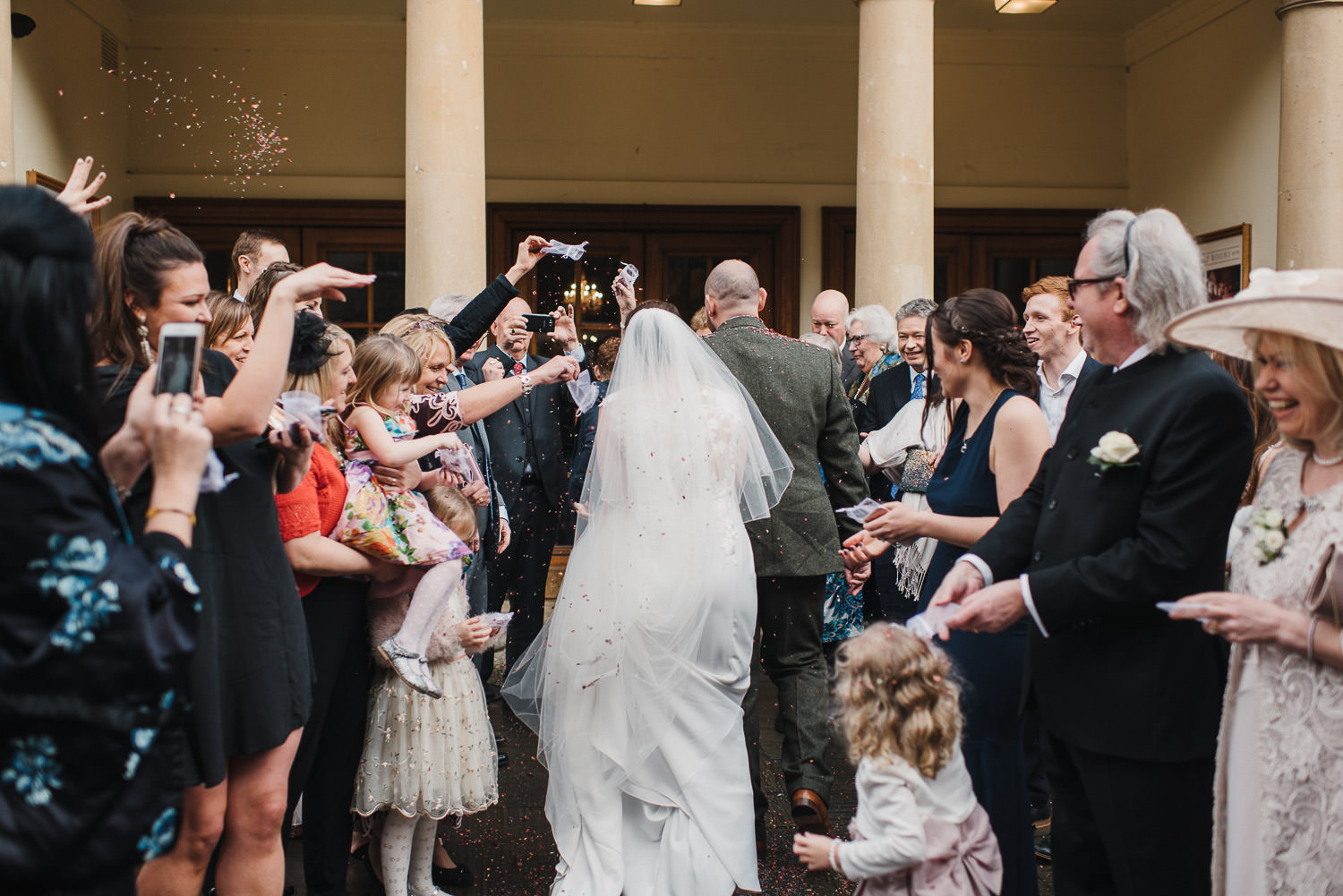 couple walking into assembly rooms bath by bath wedding photographer the shannons photography