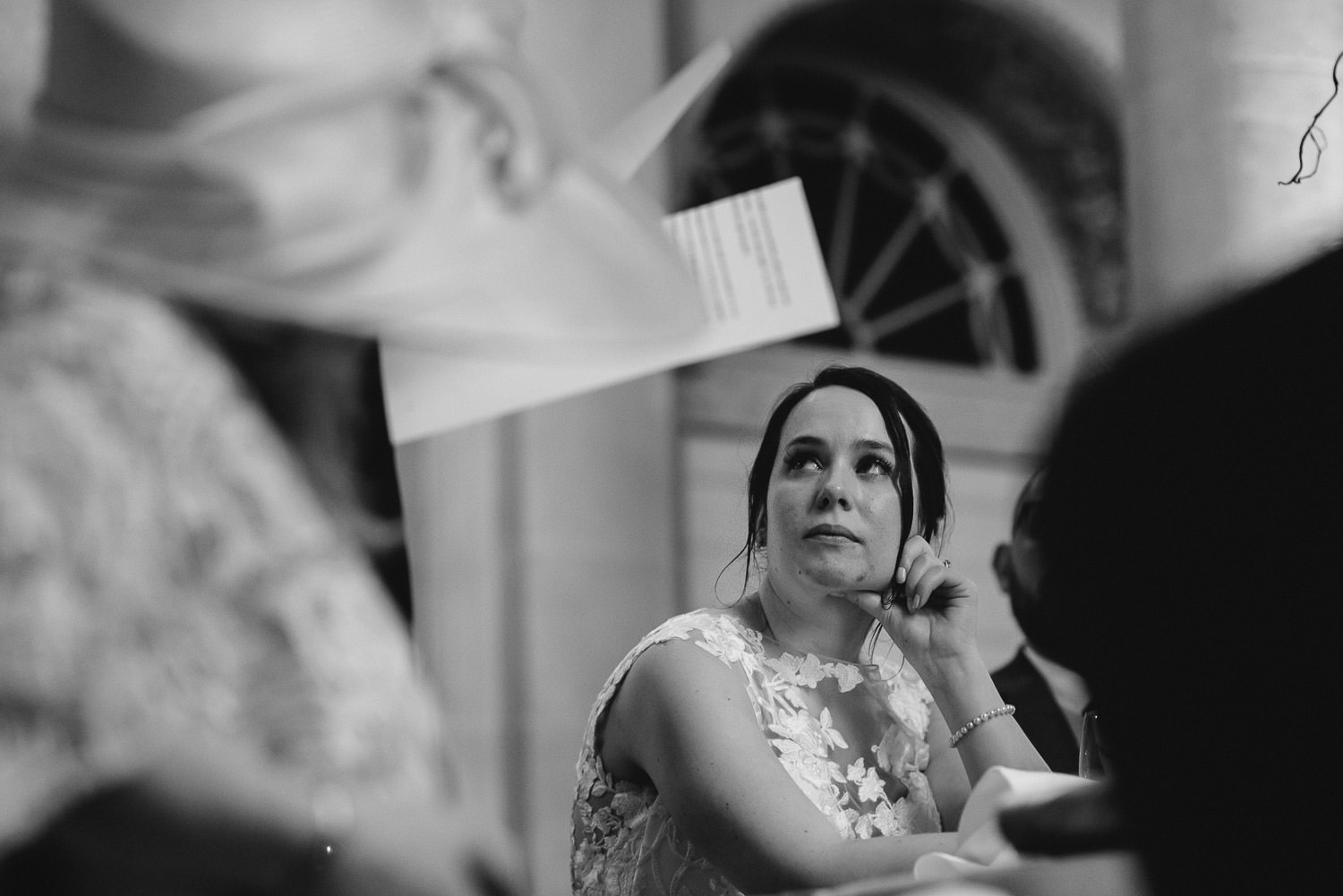 bride watching father give speech by bath wedding photographer the shannons photography