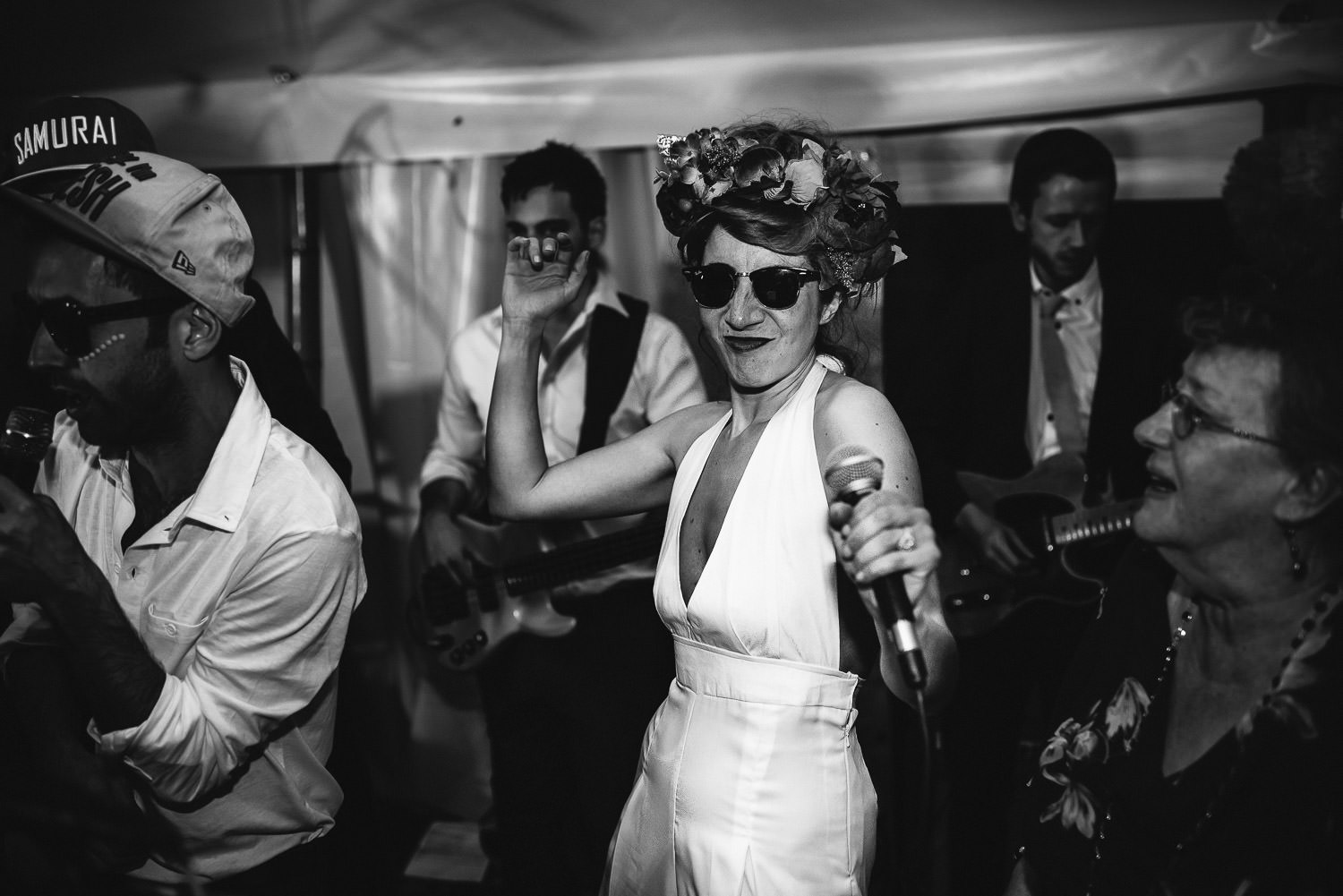 Bride dancing in Bordeaux Chateau wedding by creative destination wedding photographer the shannons photography
