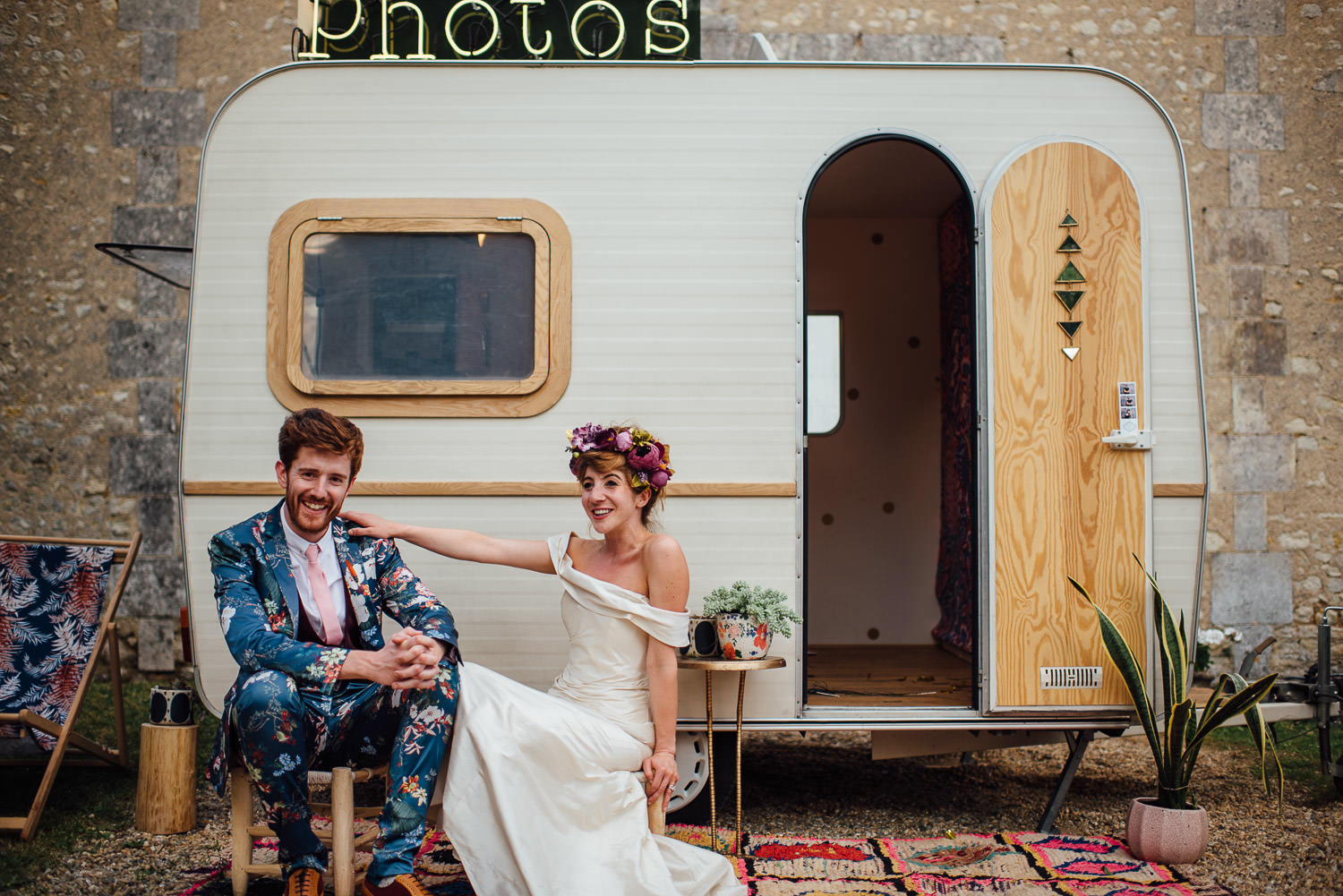 Cool photobooth in Bordeaux Chateau wedding by creative destination wedding photographer the shannons photography