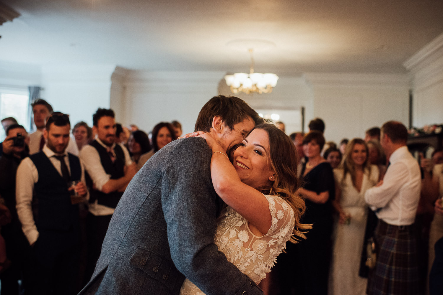 First dance in Barley Wood House Bristol Wedding by bristol wedding photographer the shannons photography