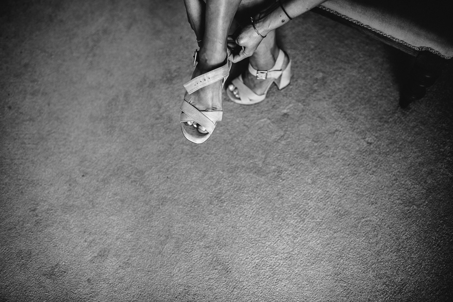 Brides shoes in Barley Wood House Bristol Wedding by bristol wedding photographer the shannons photography