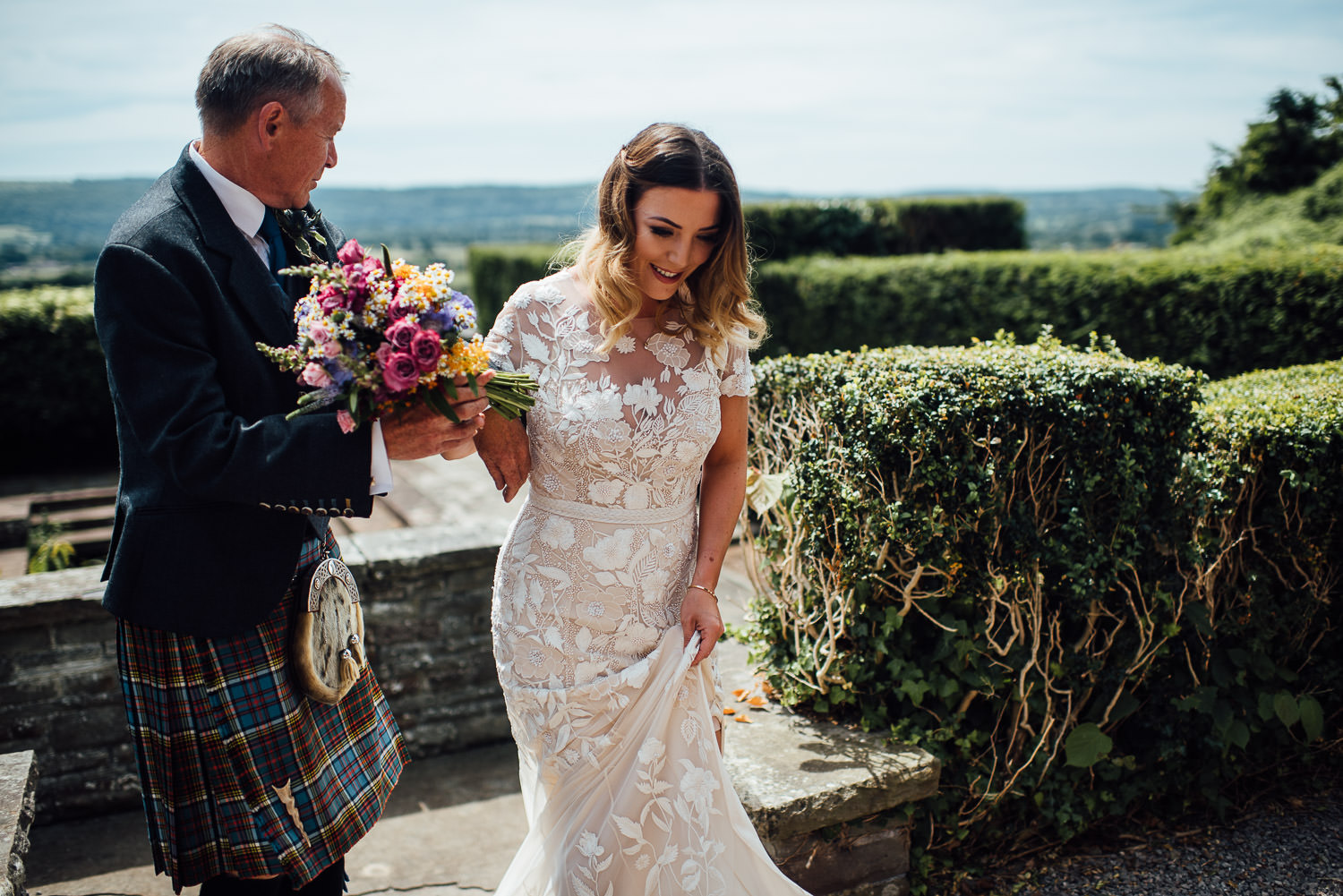 Father of the bride in Barley Wood House Bristol Wedding by bristol wedding photographer the shannons photography