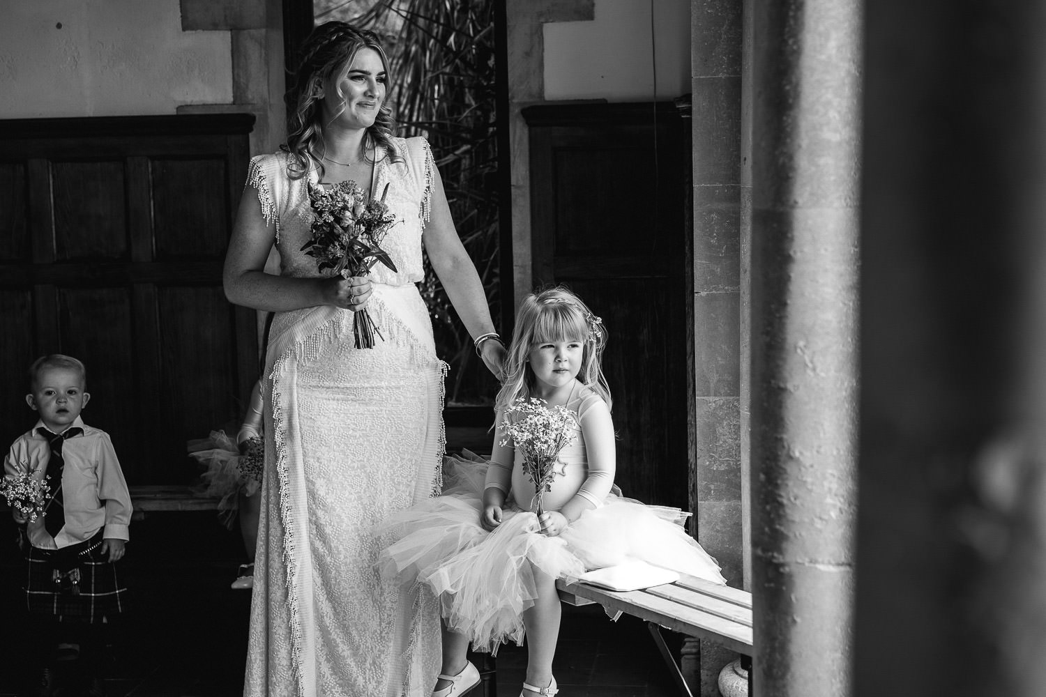 Emotional bridesmaids in Barley Wood House Bristol Wedding by bristol wedding photographer the shannons photography