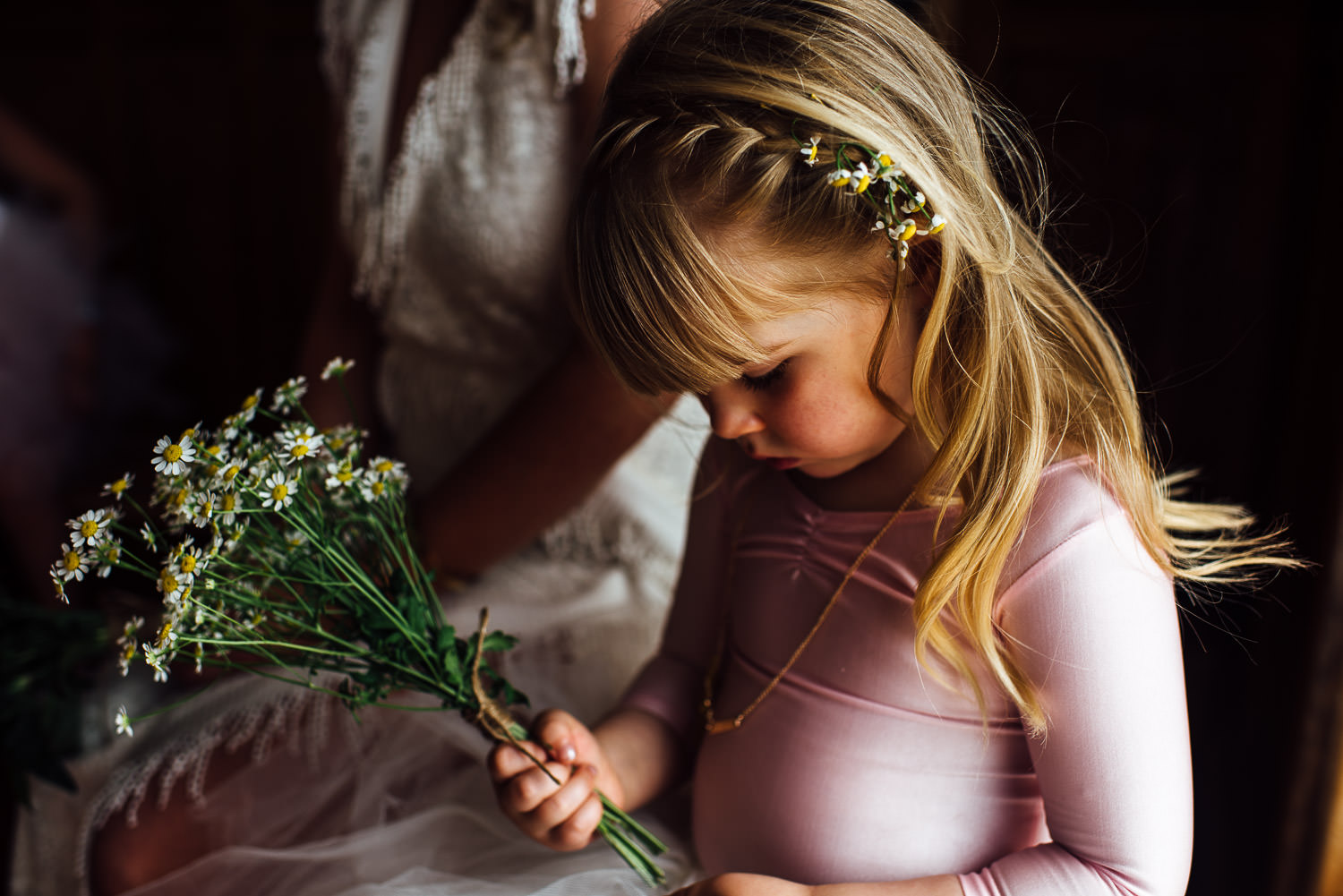 Flower girl in Barley Wood House Bristol Wedding by bristol wedding photographer the shannons photography