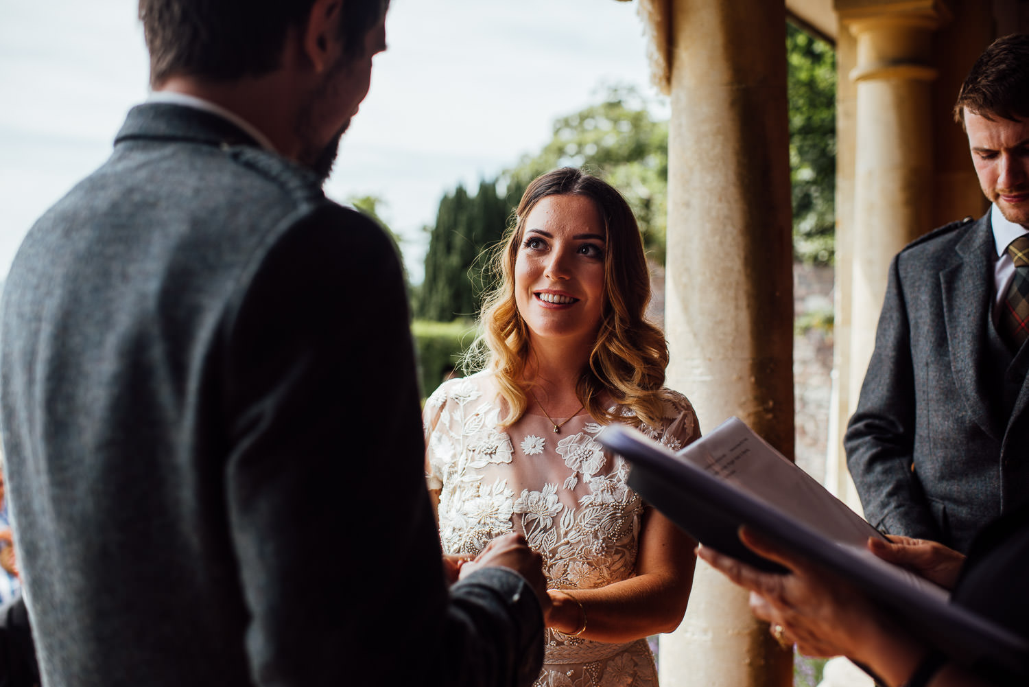 Wedding vows in Barley Wood House Bristol Wedding by bristol wedding photographer the shannons photography