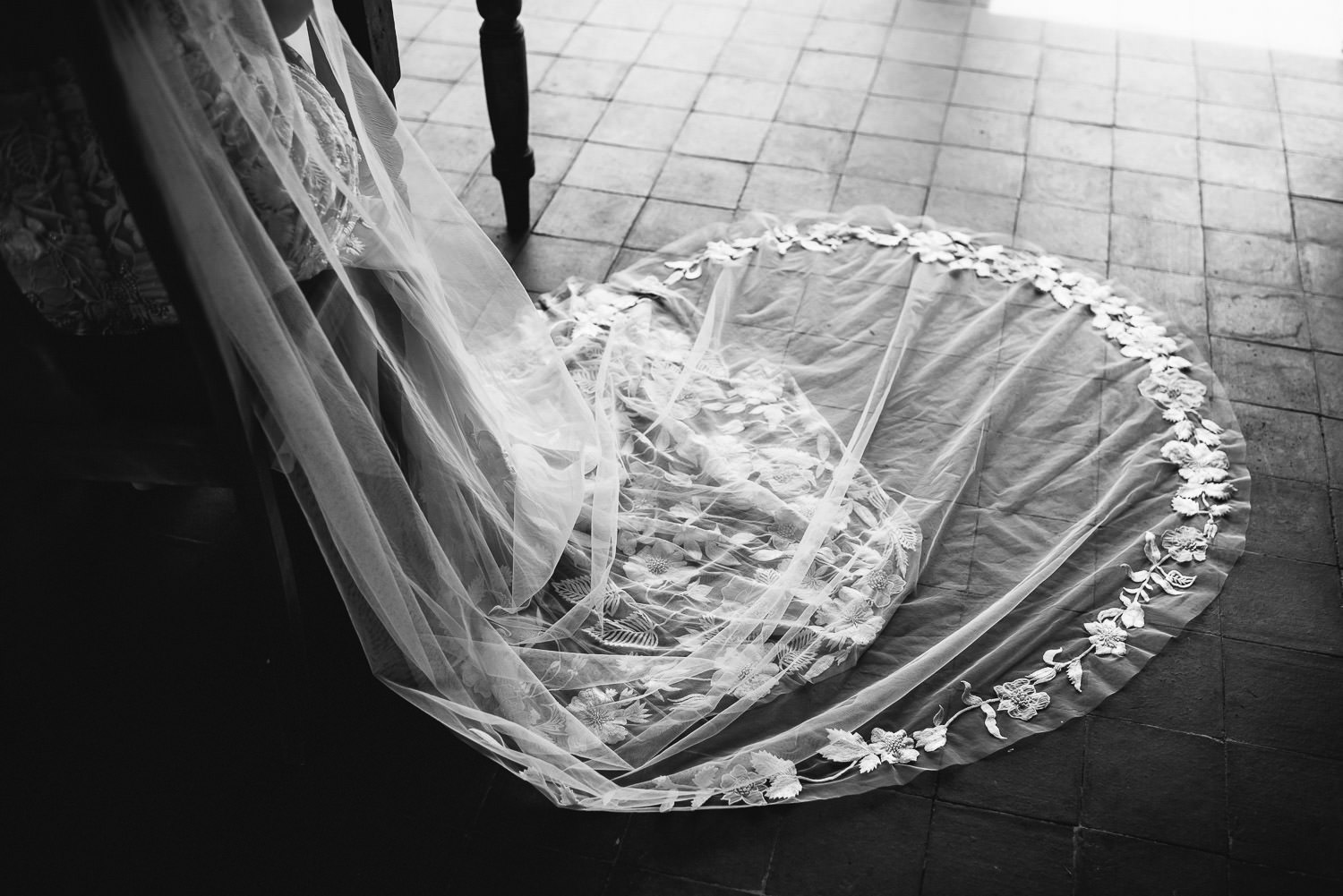 Brides wedding veil in Barley Wood House Bristol Wedding by bristol wedding photographer the shannons photography