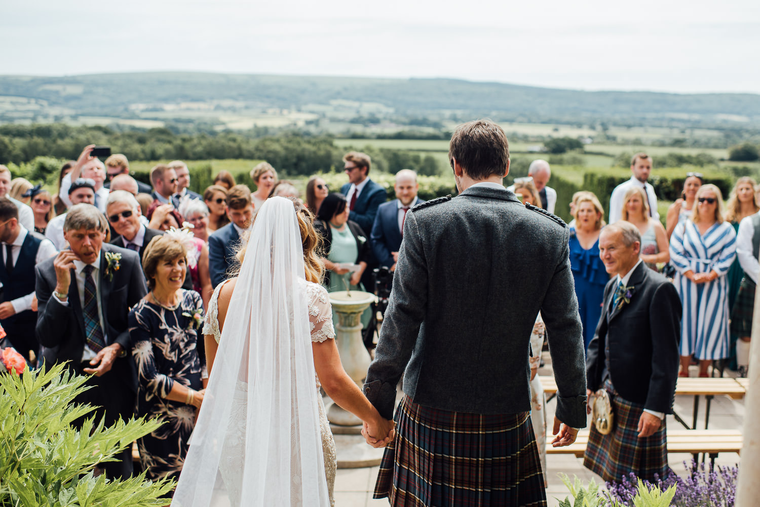 Bohemian wedding ceremony in Barley Wood House Bristol Wedding by bristol wedding photographer the shannons photography