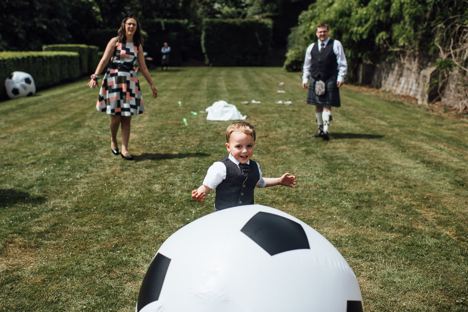 Wedding games in Barley Wood House Bristol Wedding by bristol wedding photographer the shannons photography