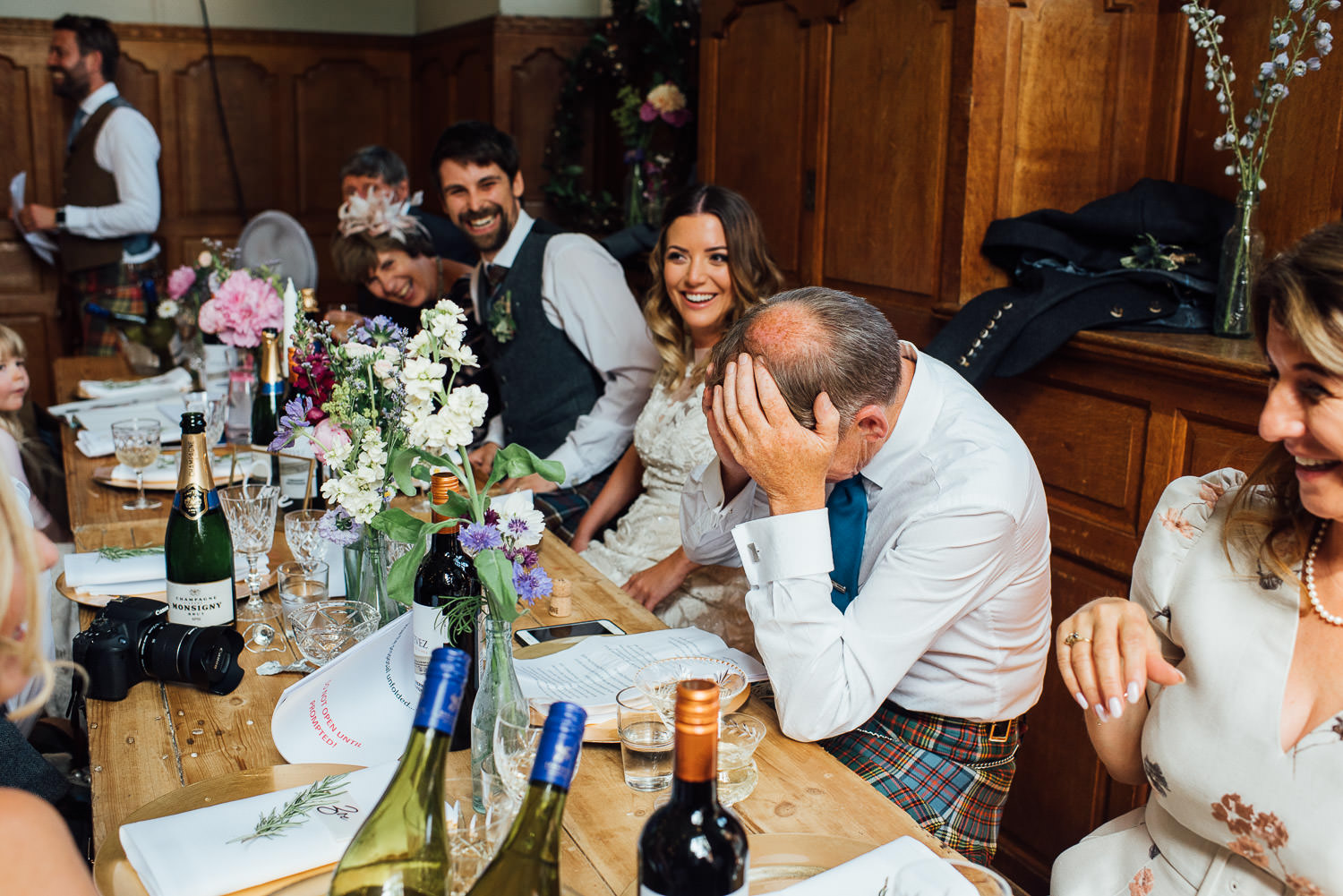 Brides speech in Barley Wood House Bristol Wedding by bristol wedding photographer the shannons photography