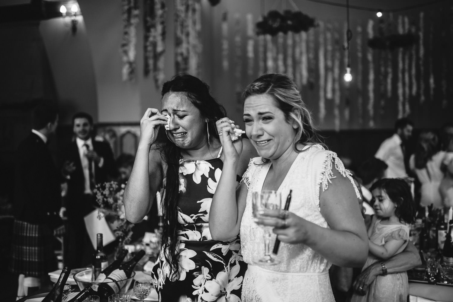 Emotional speeches in Barley Wood House Bristol Wedding by bristol wedding photographer the shannons photography
