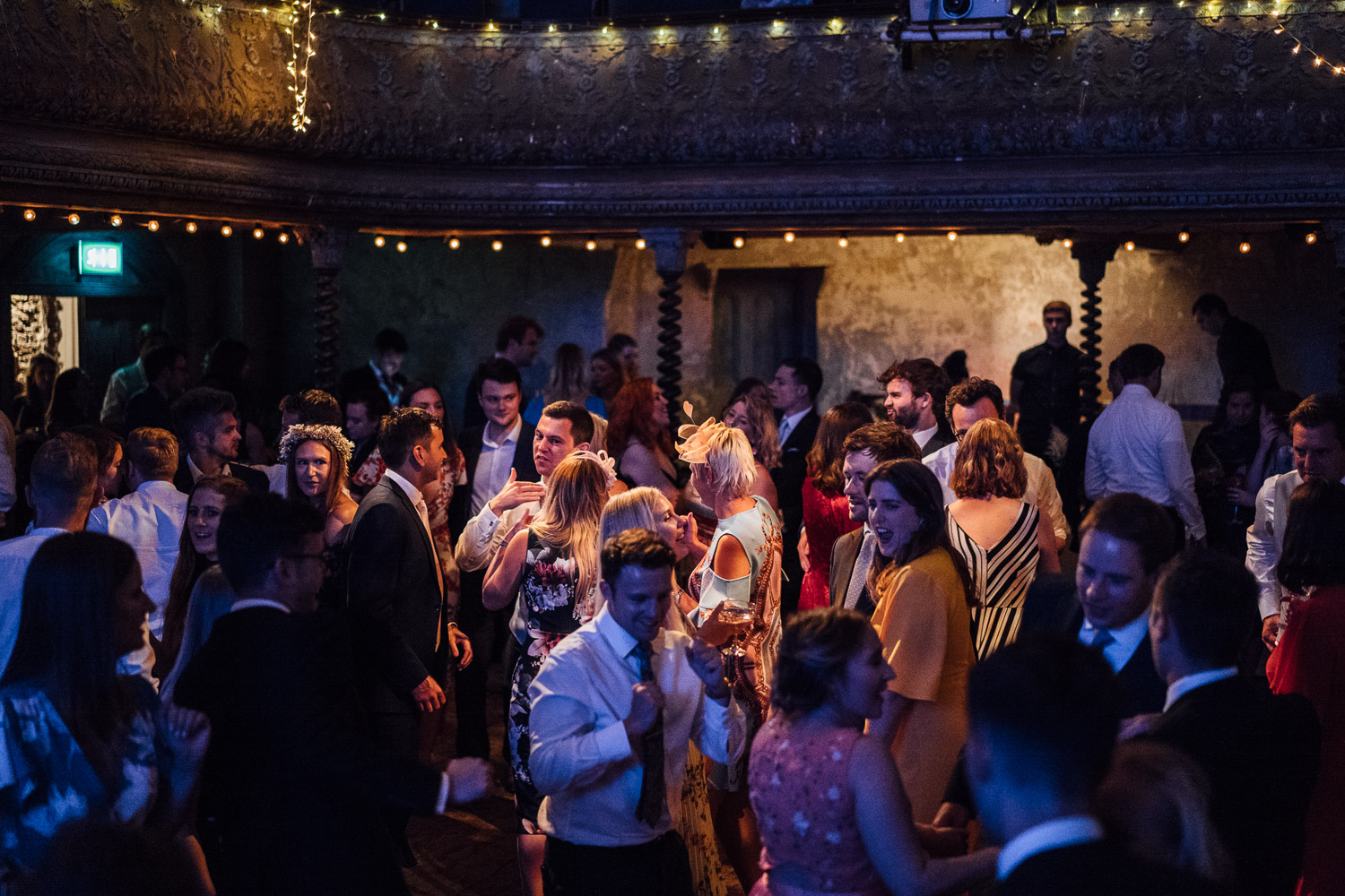 dancing in wilton's music hall wedding by london wedding photographer the shannons photography