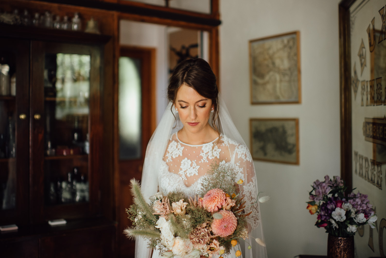 petalon bridal bouquet wilton's music hall wedding by london wedding photographer the shannons photography