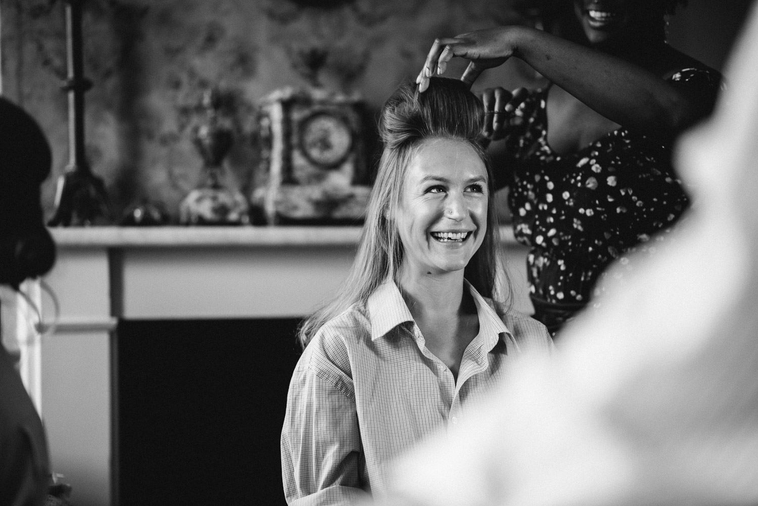 bridal preparation wilton's music hall wedding by london wedding photographer the shannons photography