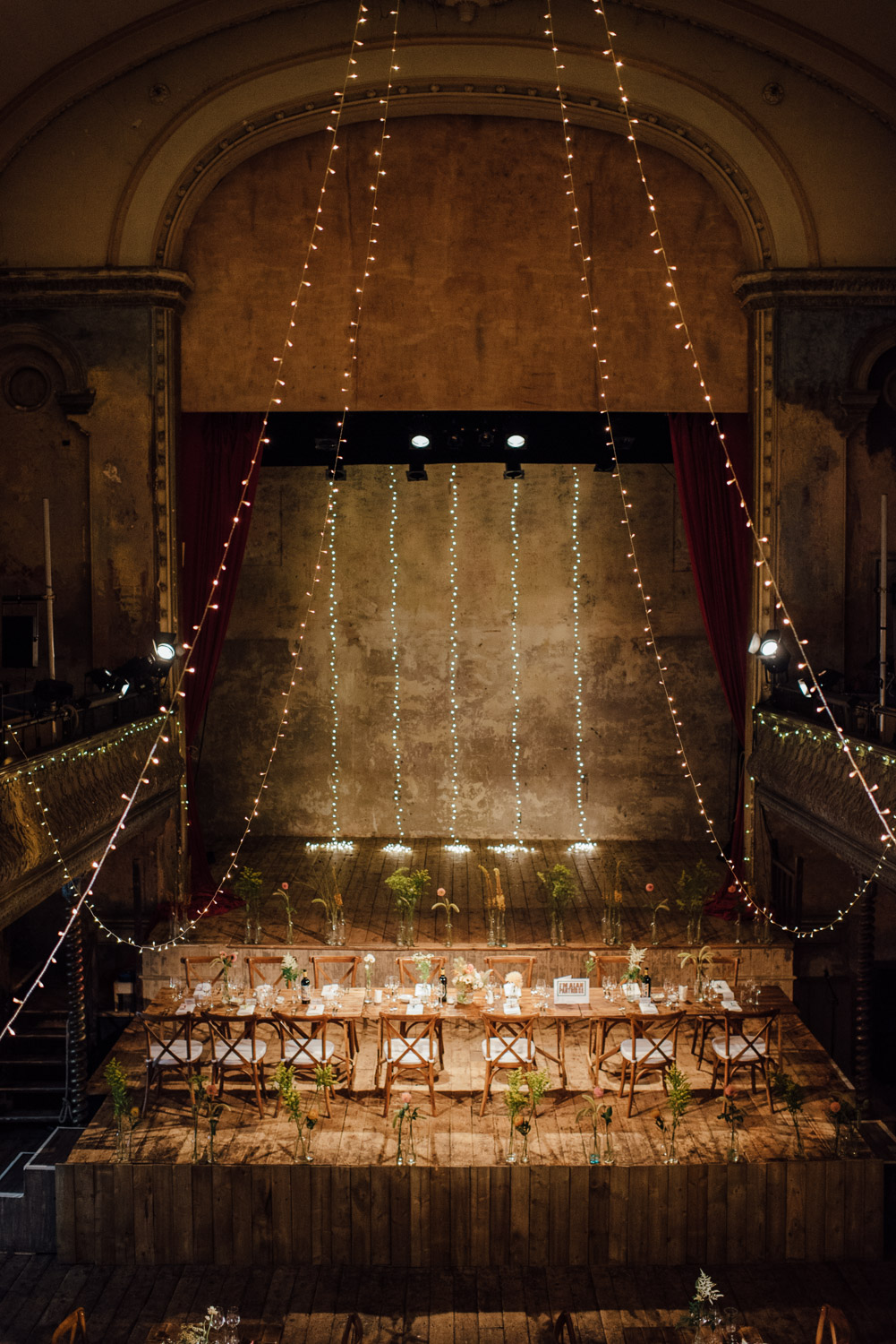 cool wedding reception wilton's music hall wedding by london wedding photographer the shannons photography