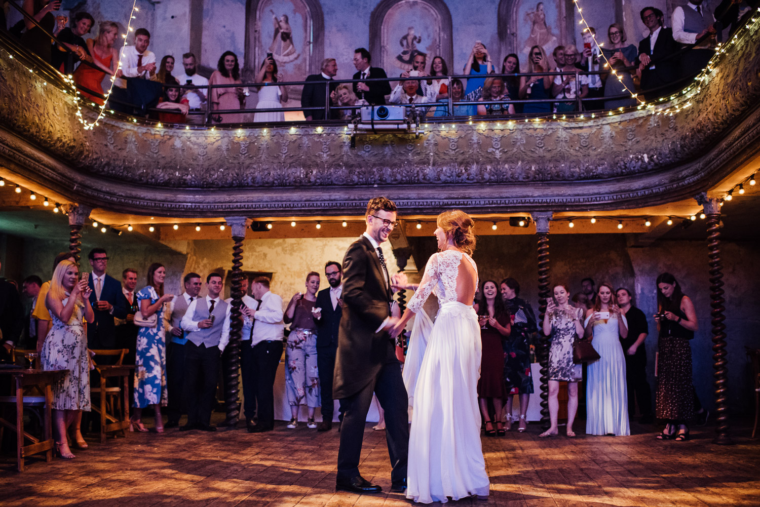 first dance wilton's music hall wedding by london wedding photographer the shannons photography